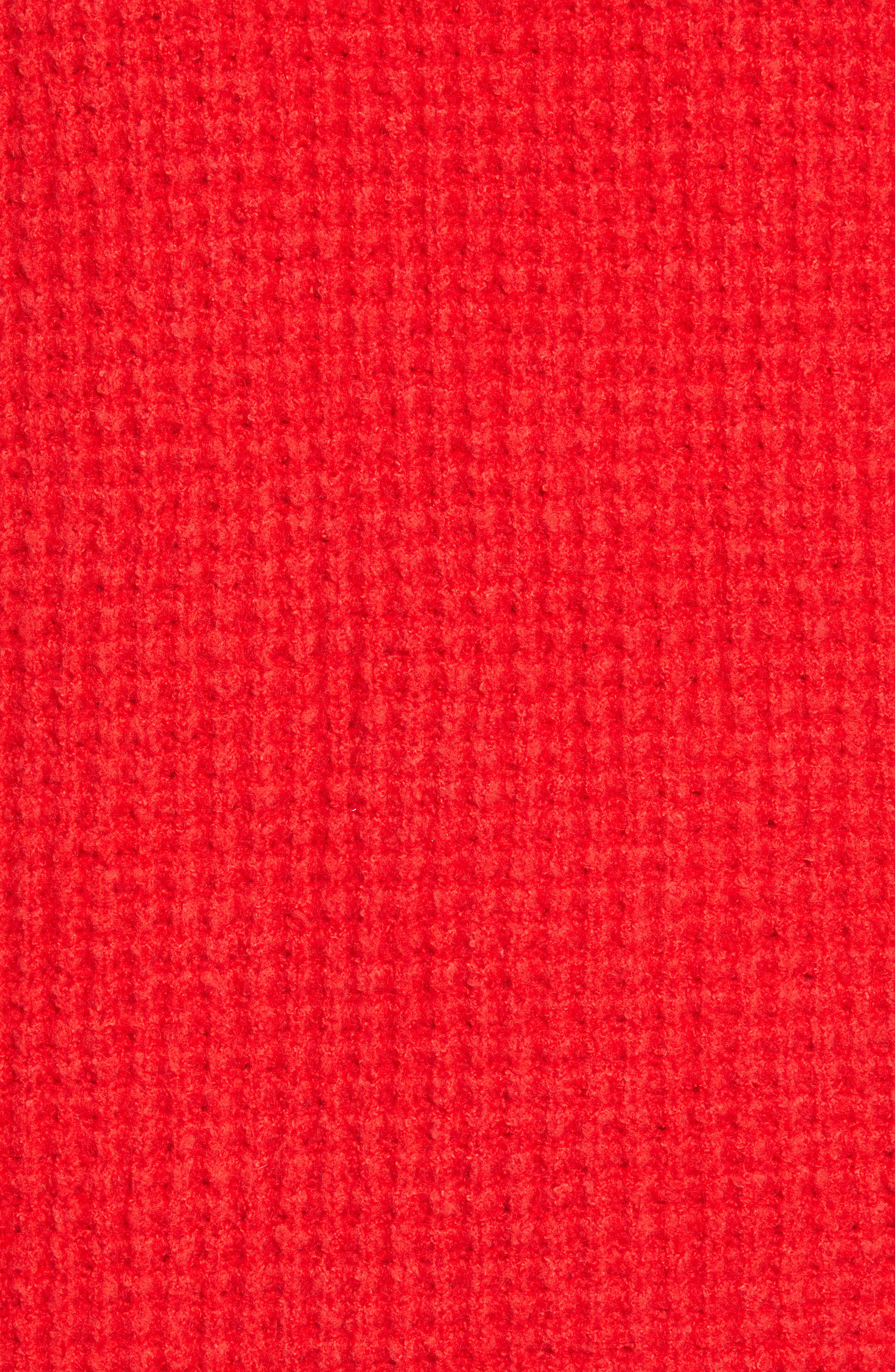 Holly Red Sweater Dress,                             Alternate thumbnail 7, color,                             600