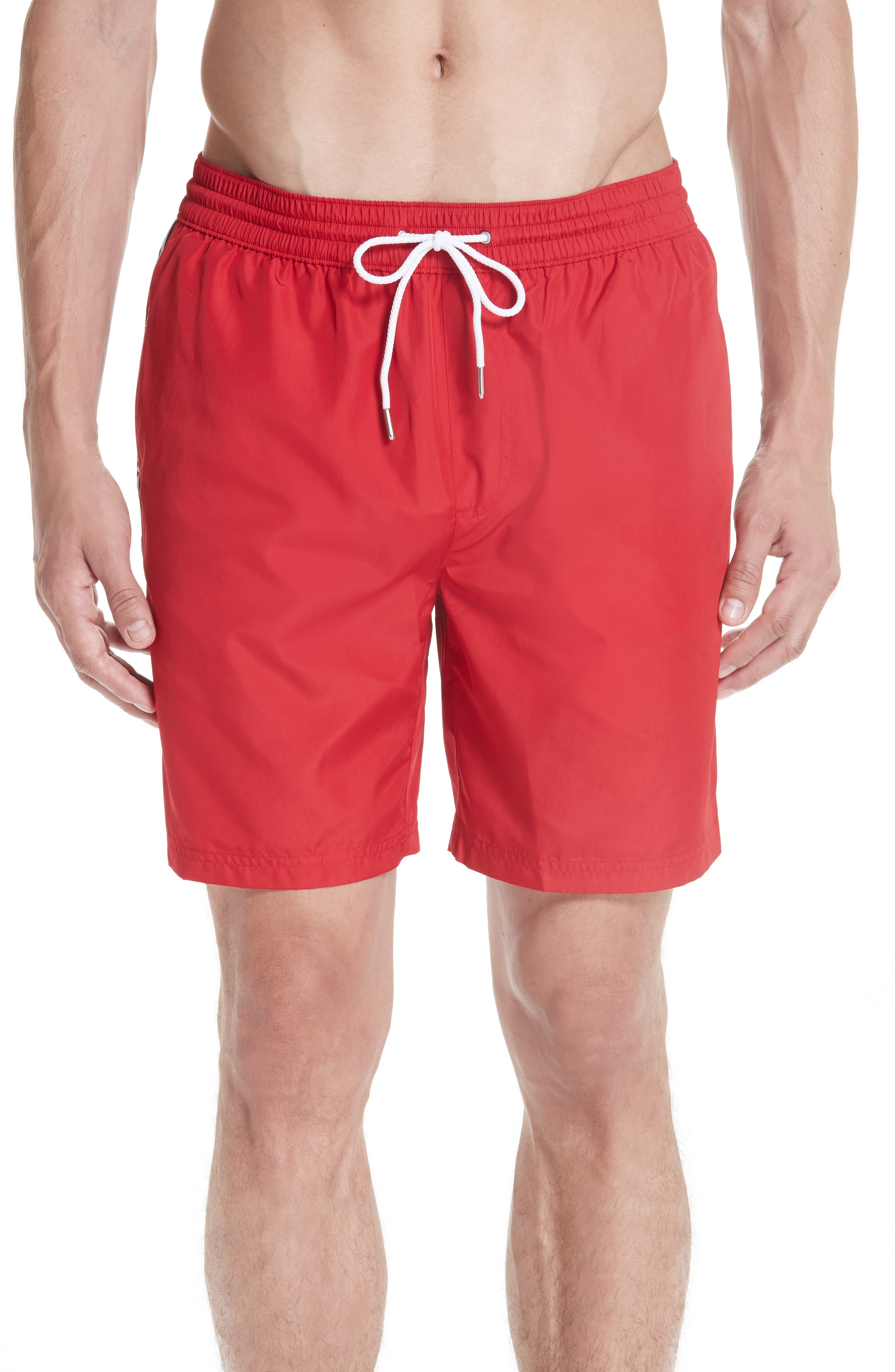 Guildes Swim Trunks,                             Main thumbnail 1, color,                             PARADE RED