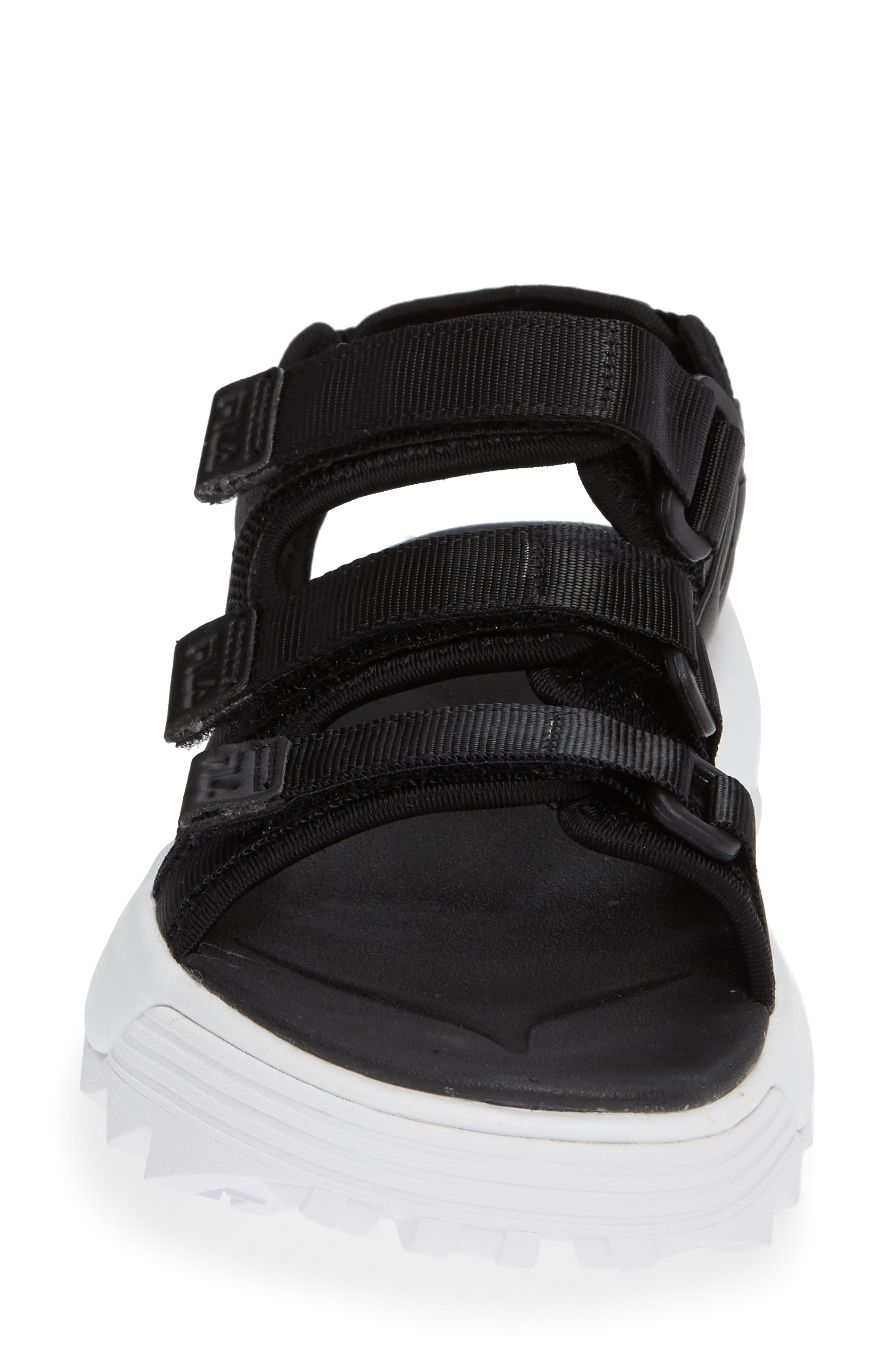 Disruptor Sandal,                             Alternate thumbnail 4, color,                             BLACK/ BLACK/ WHITE