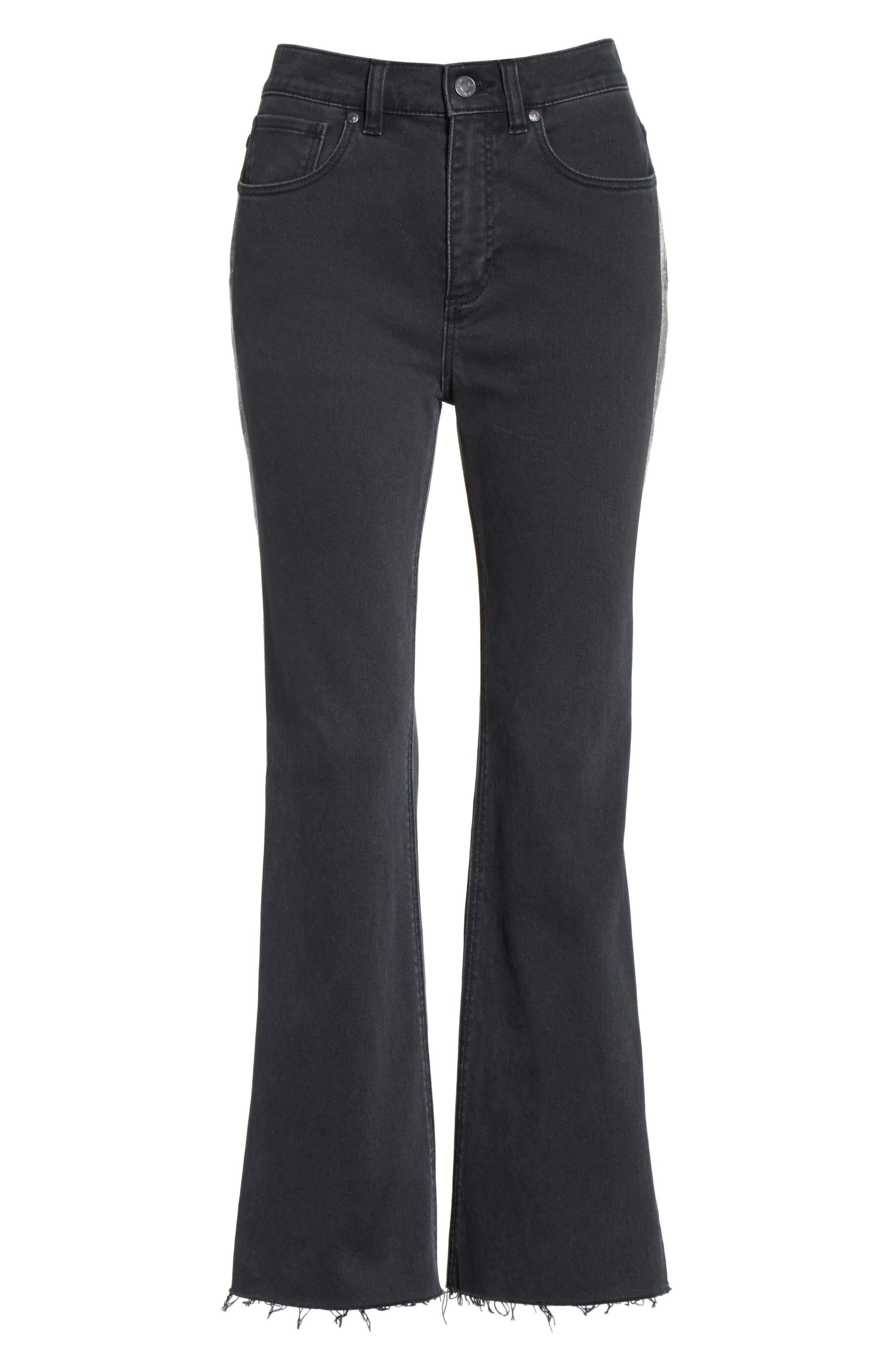 Glitter Stripe Jeans,                             Alternate thumbnail 6, color,                             037