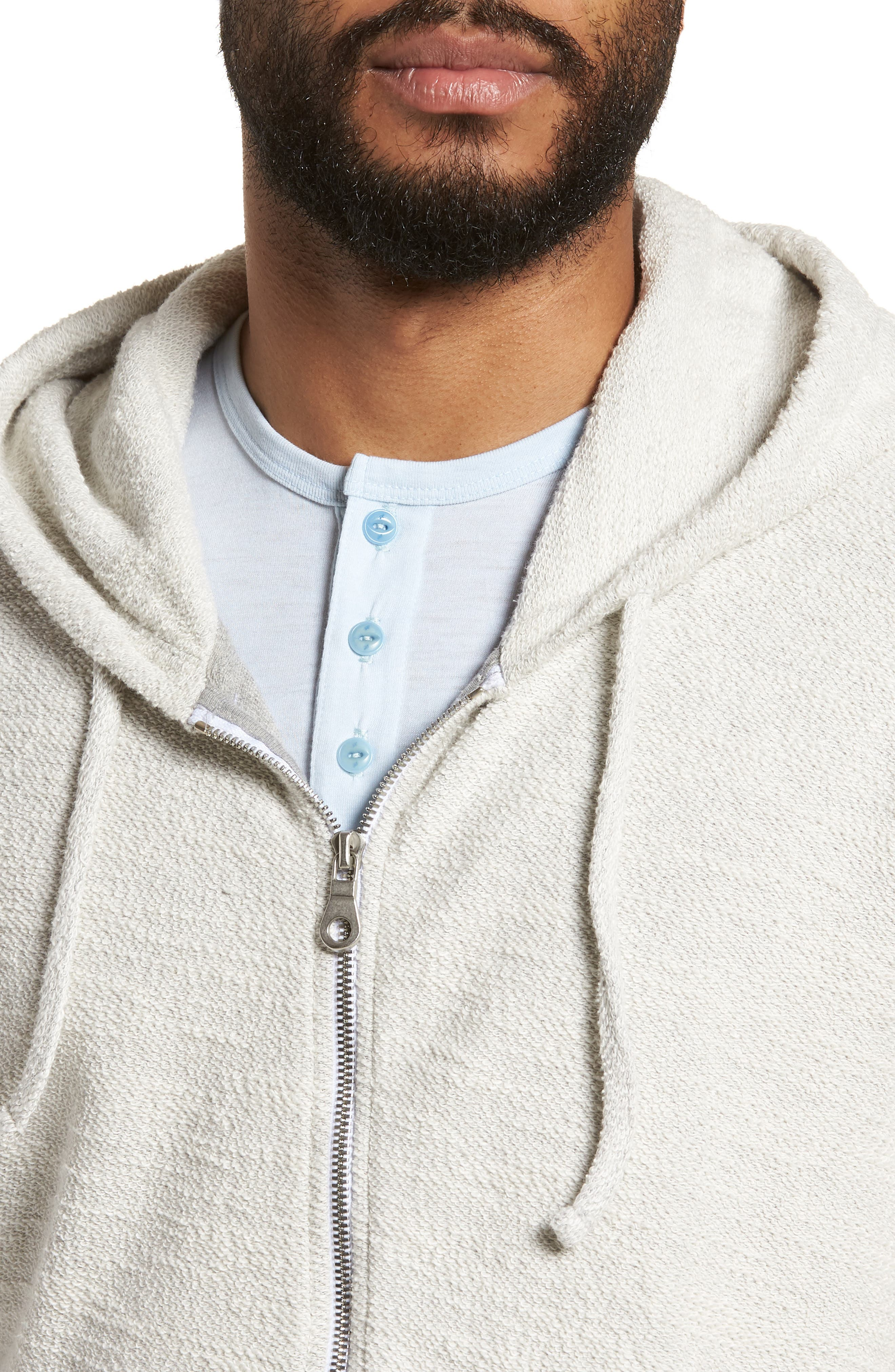 Terrycloth Cotton Blend Zip Hoodie,                             Alternate thumbnail 11, color,