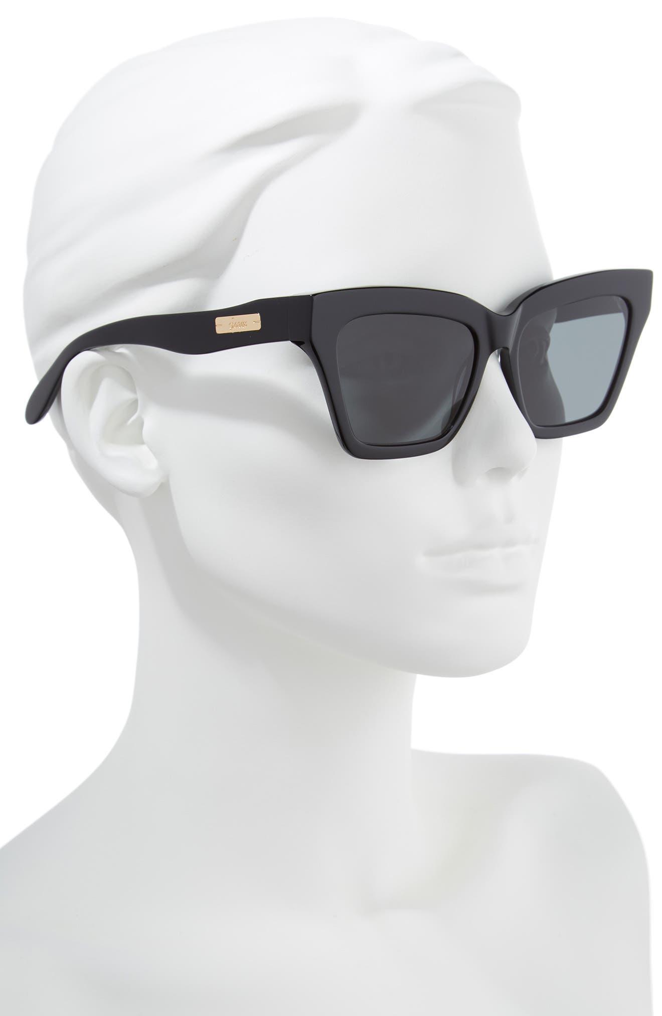 Half Half 54mm Cat Eye Sunglasses,                             Alternate thumbnail 2, color,                             001