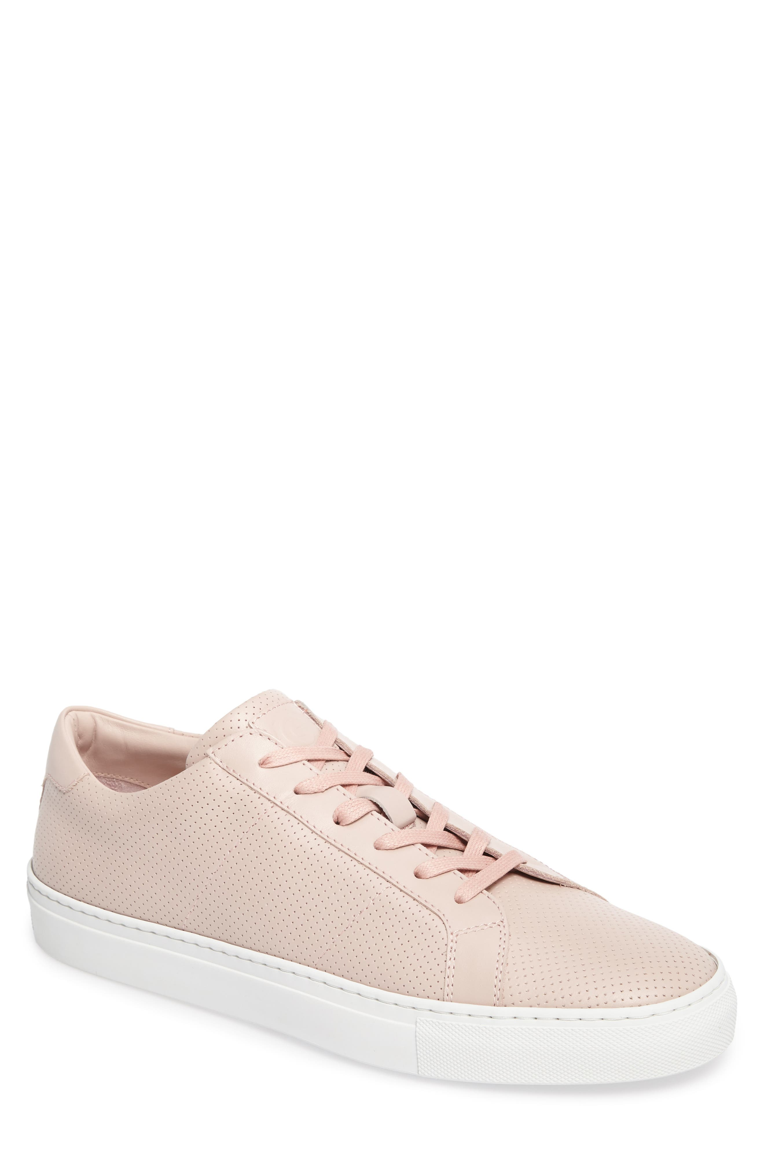 Royale Perforated Low Top Sneaker,                             Main thumbnail 1, color,                             BLUSH PERFORATED LEATHER