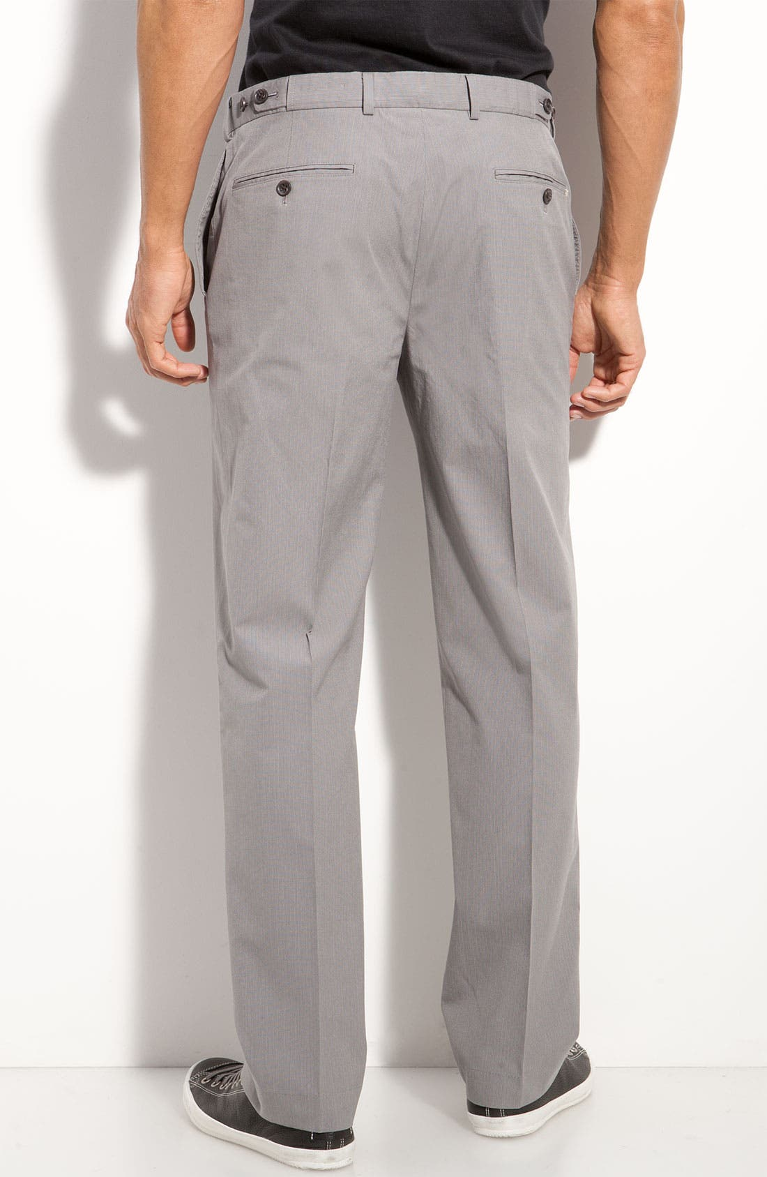 WALLIN & BROS.,                             Flat Front Stripe Pants,                             Alternate thumbnail 3, color,                             020