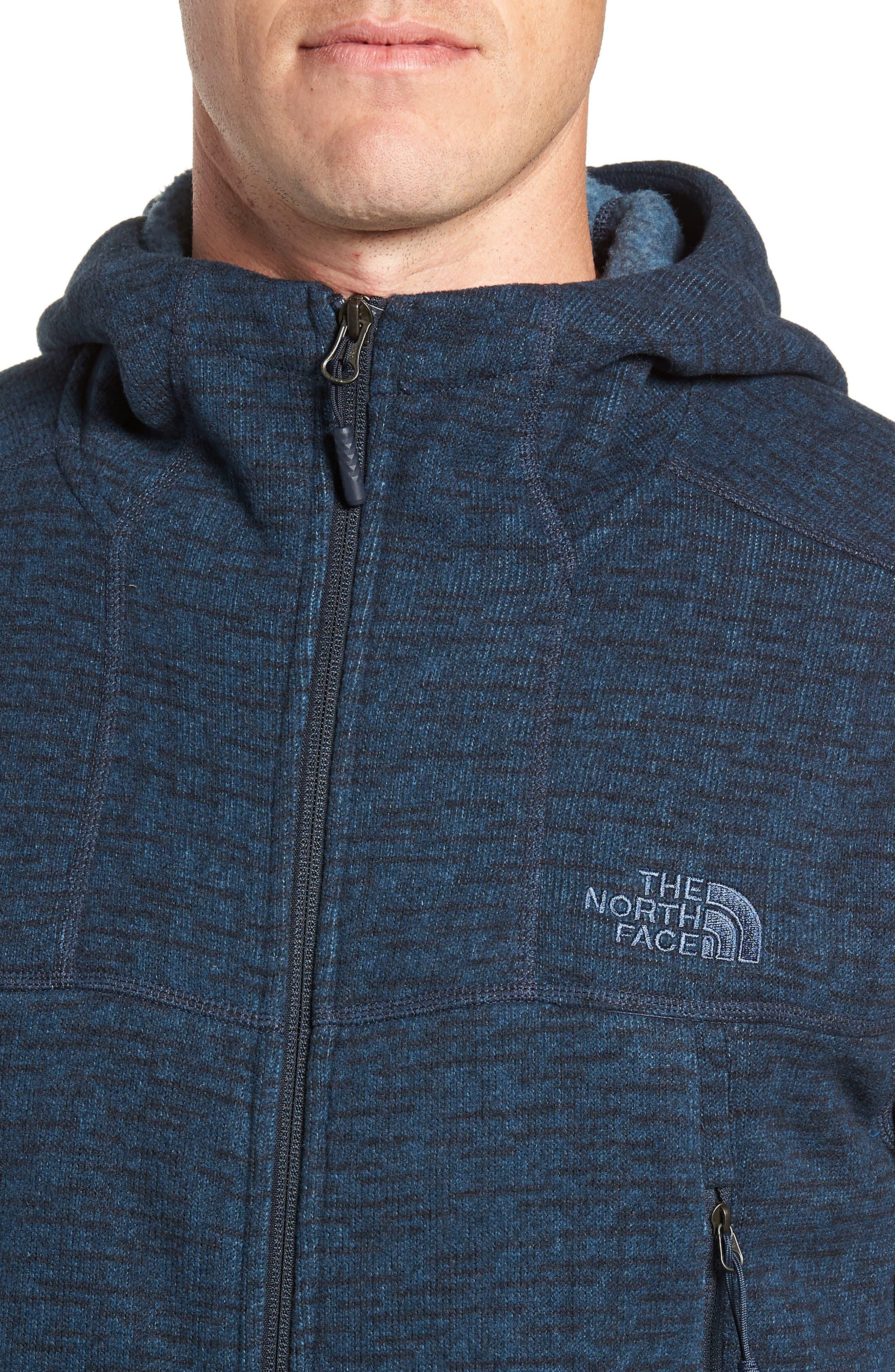 Gordon Lyons Alpine Sweater Fleece Hoodie,                             Alternate thumbnail 4, color,                             URBAN NAVY