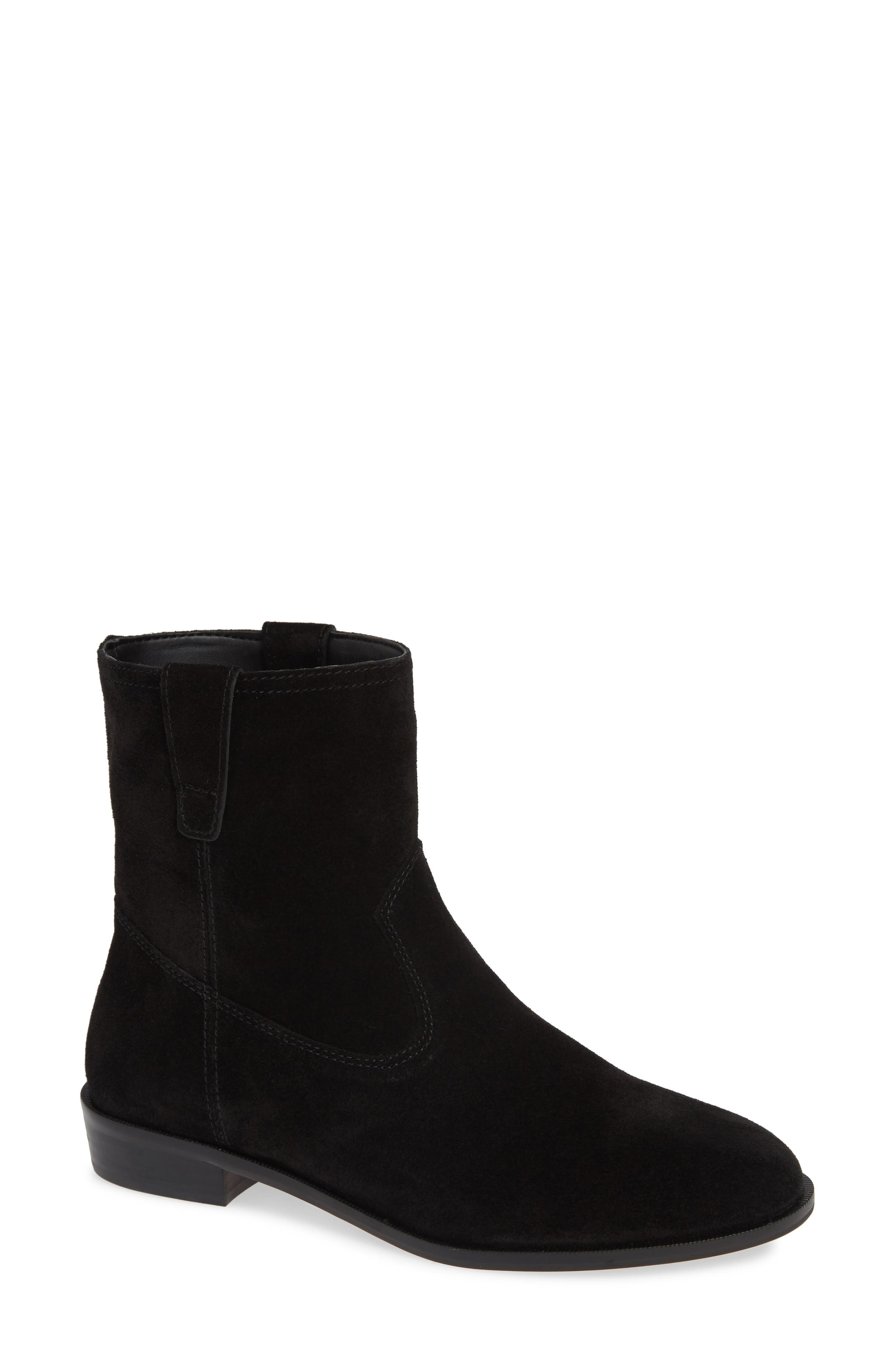 Chasidy Bootie,                             Main thumbnail 1, color,                             BLACK SUEDE