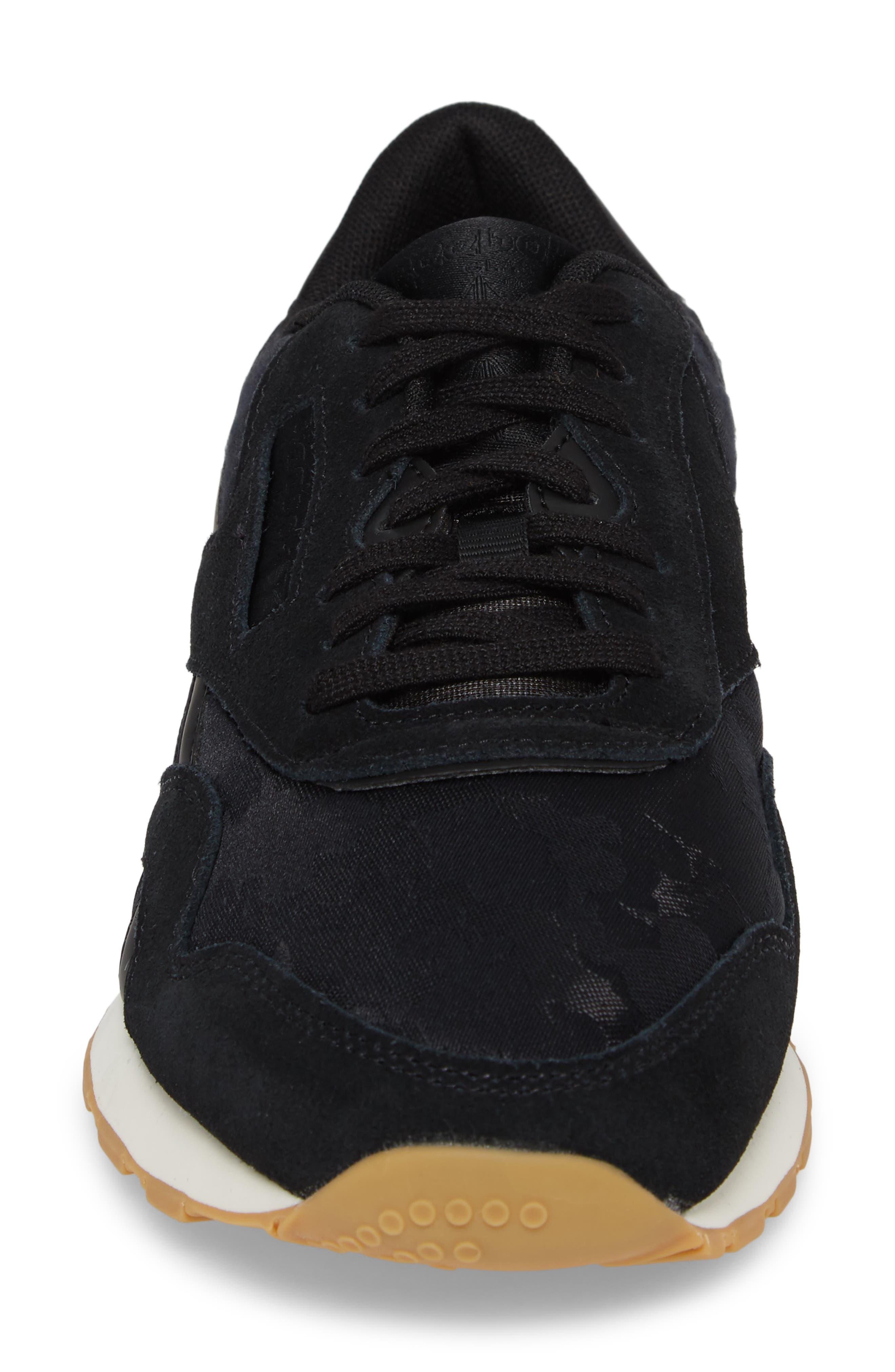 Classic Leather Nylon SG Sneaker,                             Alternate thumbnail 4, color,                             001