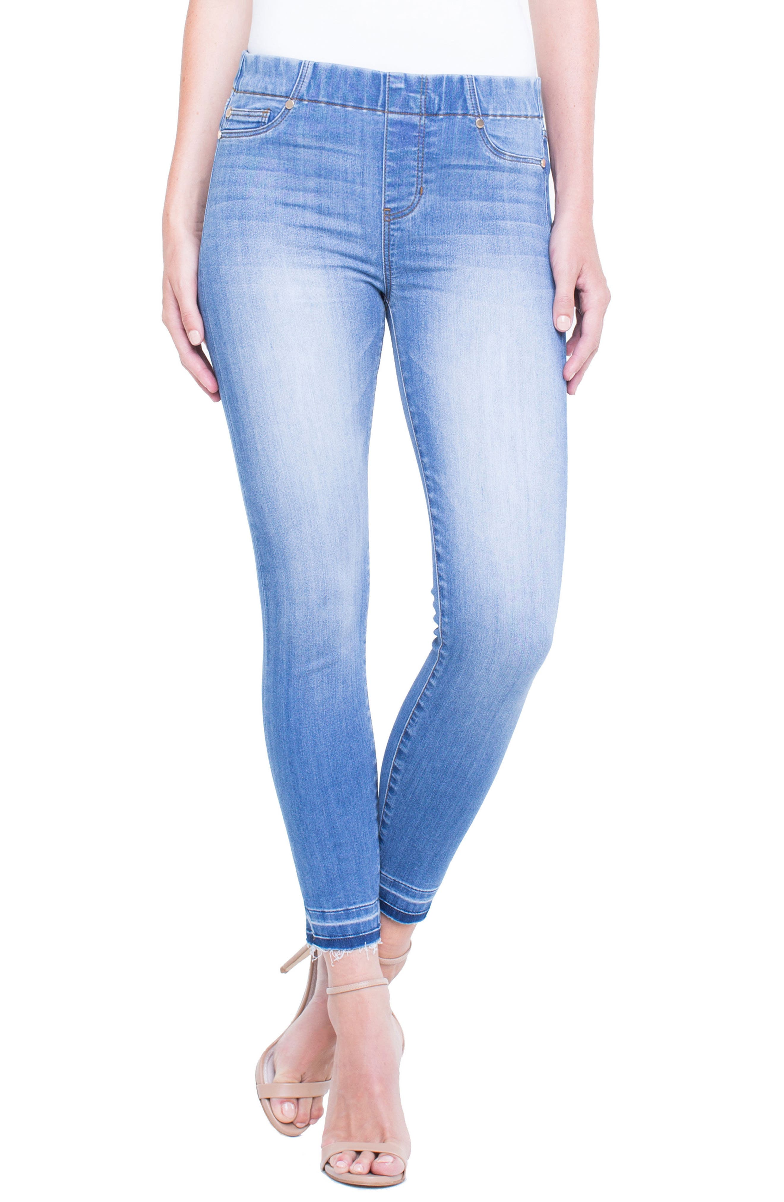 Chloe Release Hem Denim Leggings,                         Main,                         color, RIDGEWAY GRIND