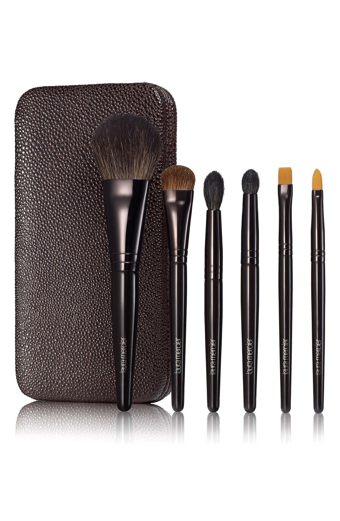 'Stroke of Genius' Luxe Brush Collection,                             Main thumbnail 1, color,                             000