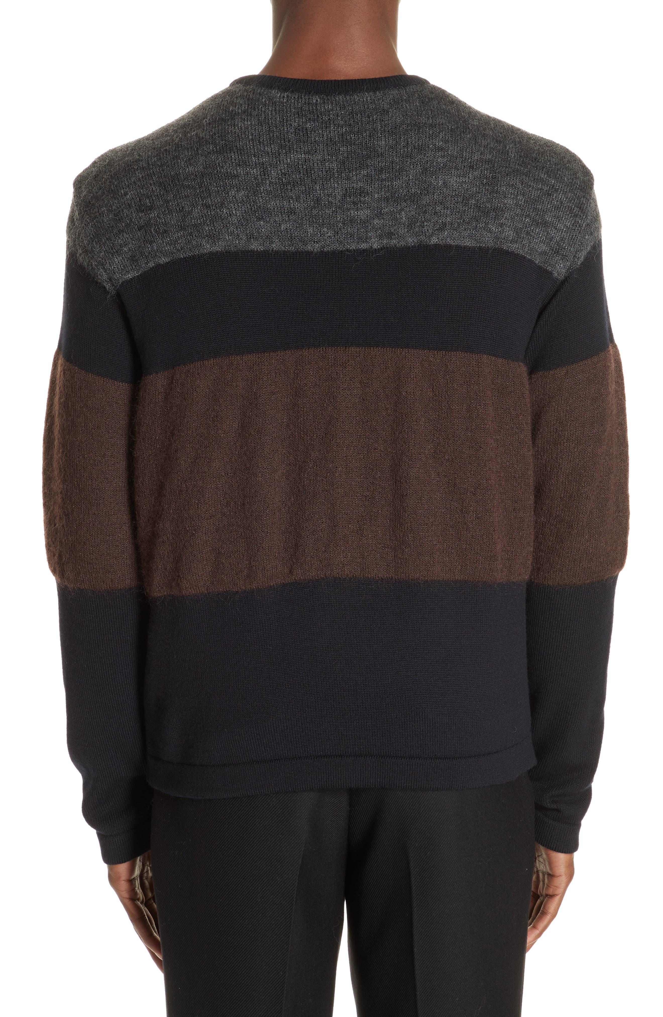 Stripe Sweater,                             Alternate thumbnail 2, color,                             NAVY