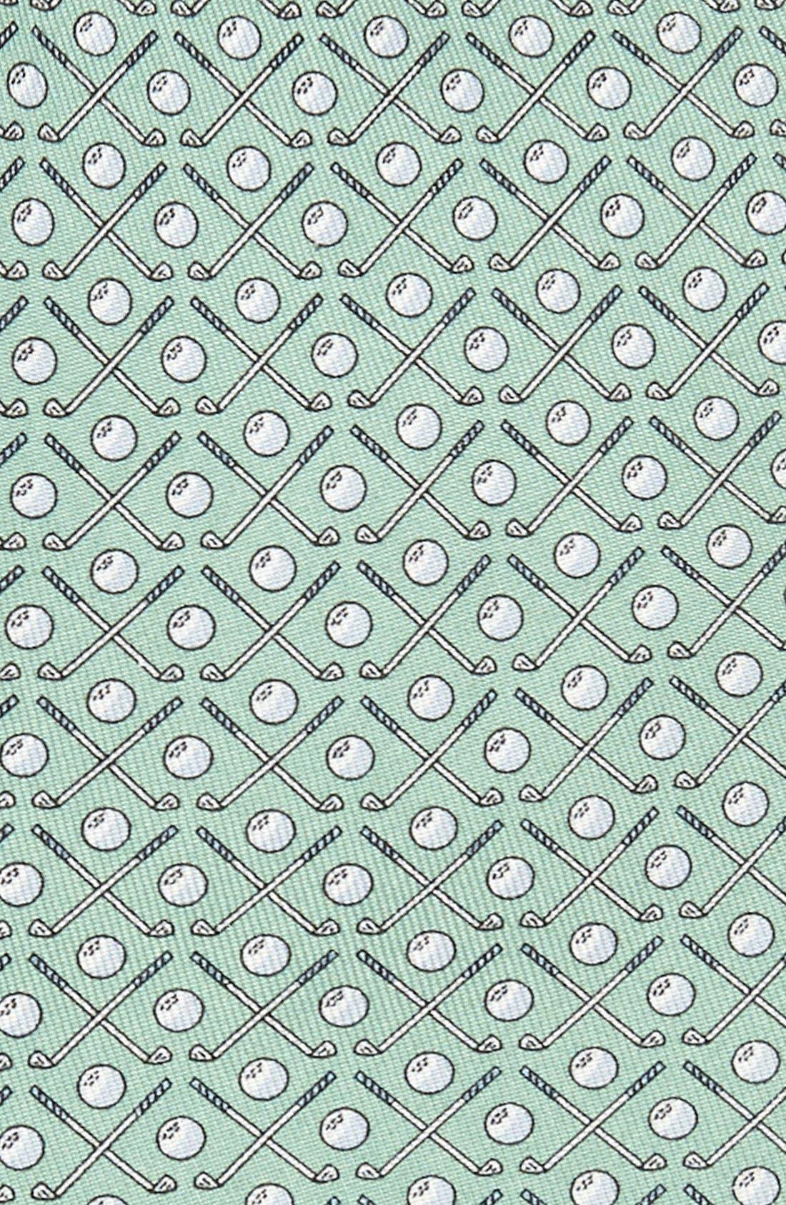 Golf Clubs Silk Tie,                             Alternate thumbnail 6, color,