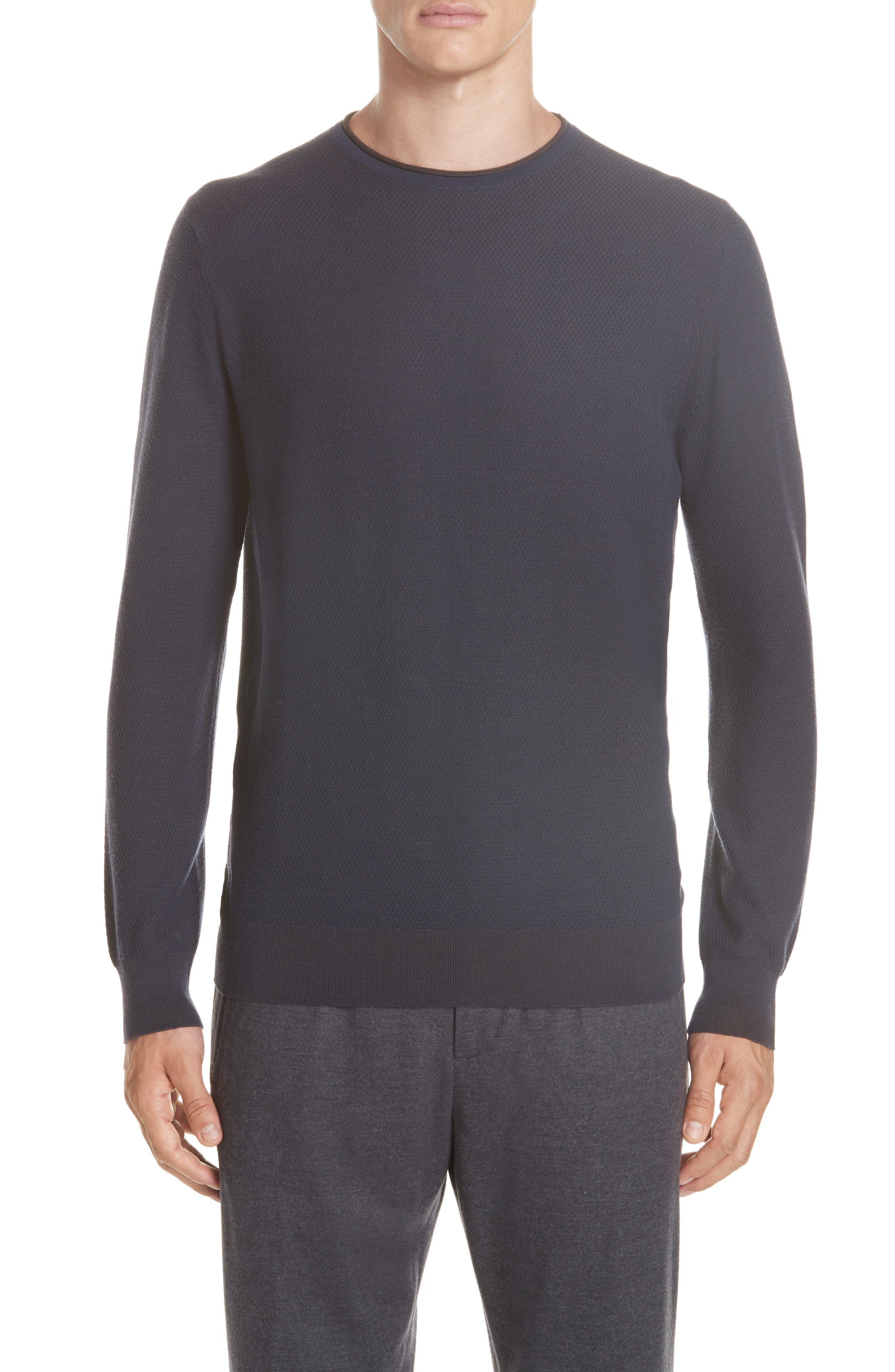 Crewneck Wool Sweater,                             Main thumbnail 1, color,                             NAVY