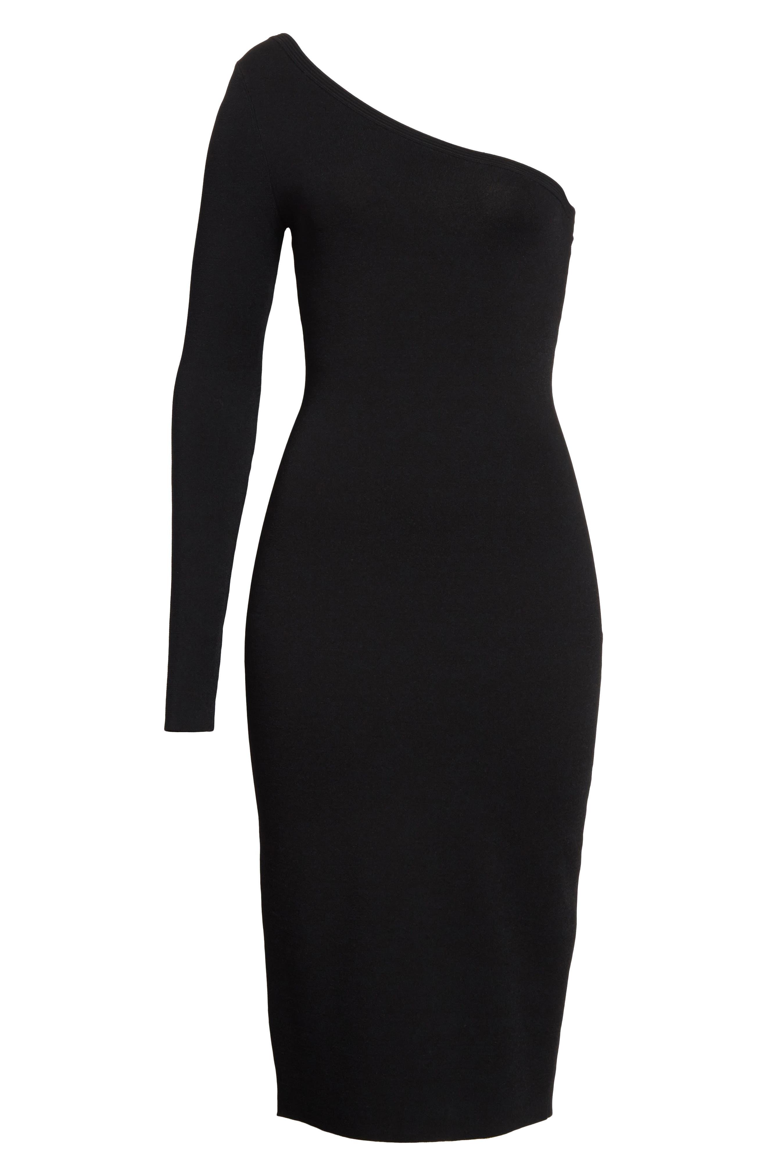 Diane von Furstenberg Knit One-Shoulder Midi Dress,                             Alternate thumbnail 13, color,