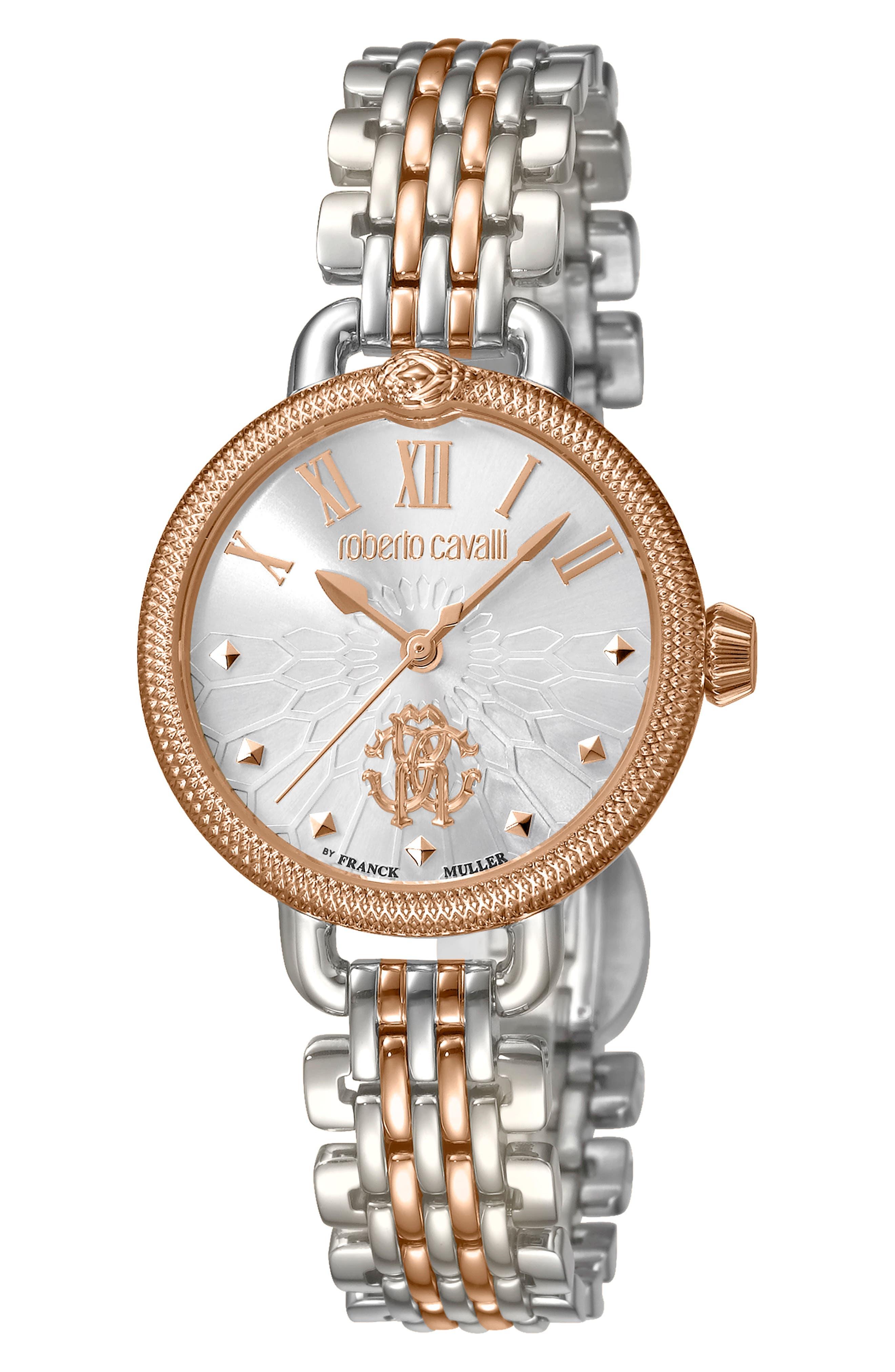 Floreale Bracelet Watch, 30mm,                             Main thumbnail 1, color,                             ROSE GOLD/ SILVER