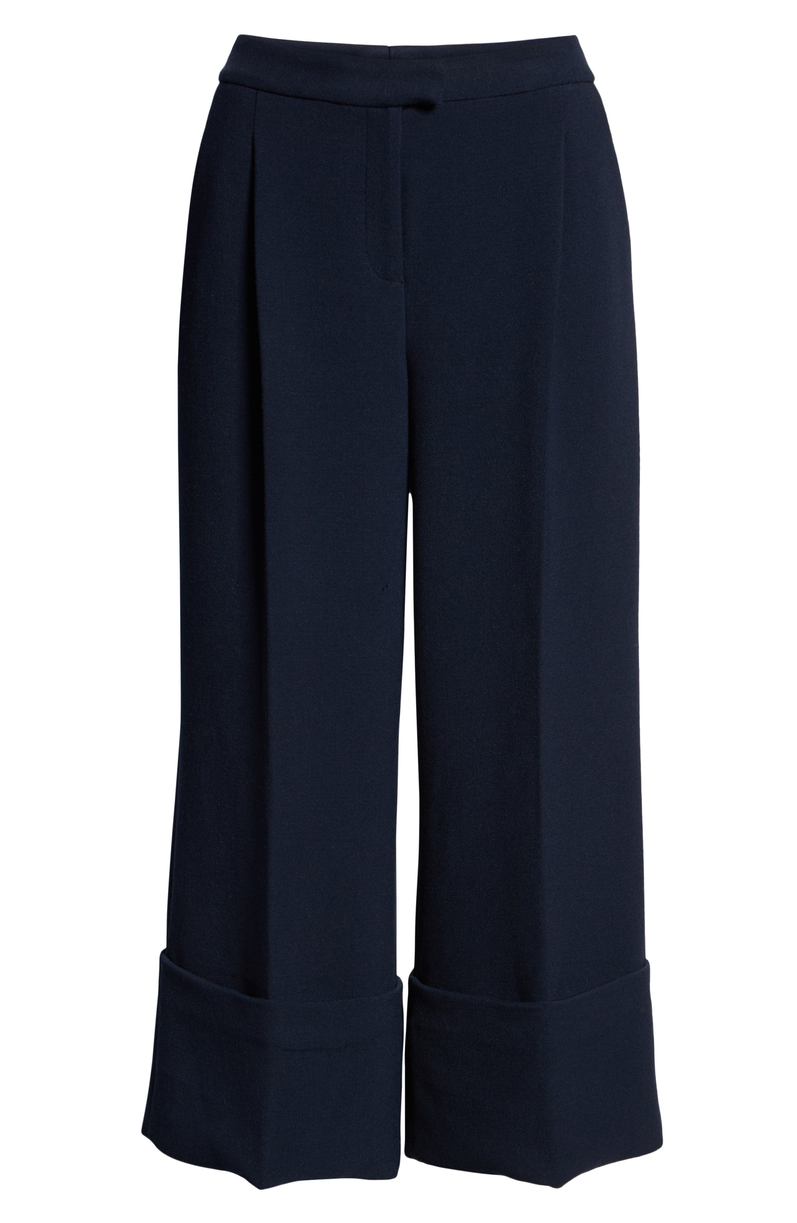 HALOGEN<SUP>®</SUP>,                             x Atlantic-Pacific High Waist Wide Cuff Ankle Pants,                             Alternate thumbnail 8, color,                             410