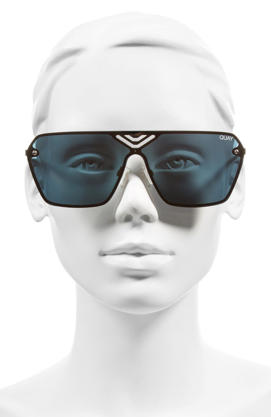 Star Gaze 68mm Mirrored Shield Sunglasses,                             Alternate thumbnail 2, color,                             710