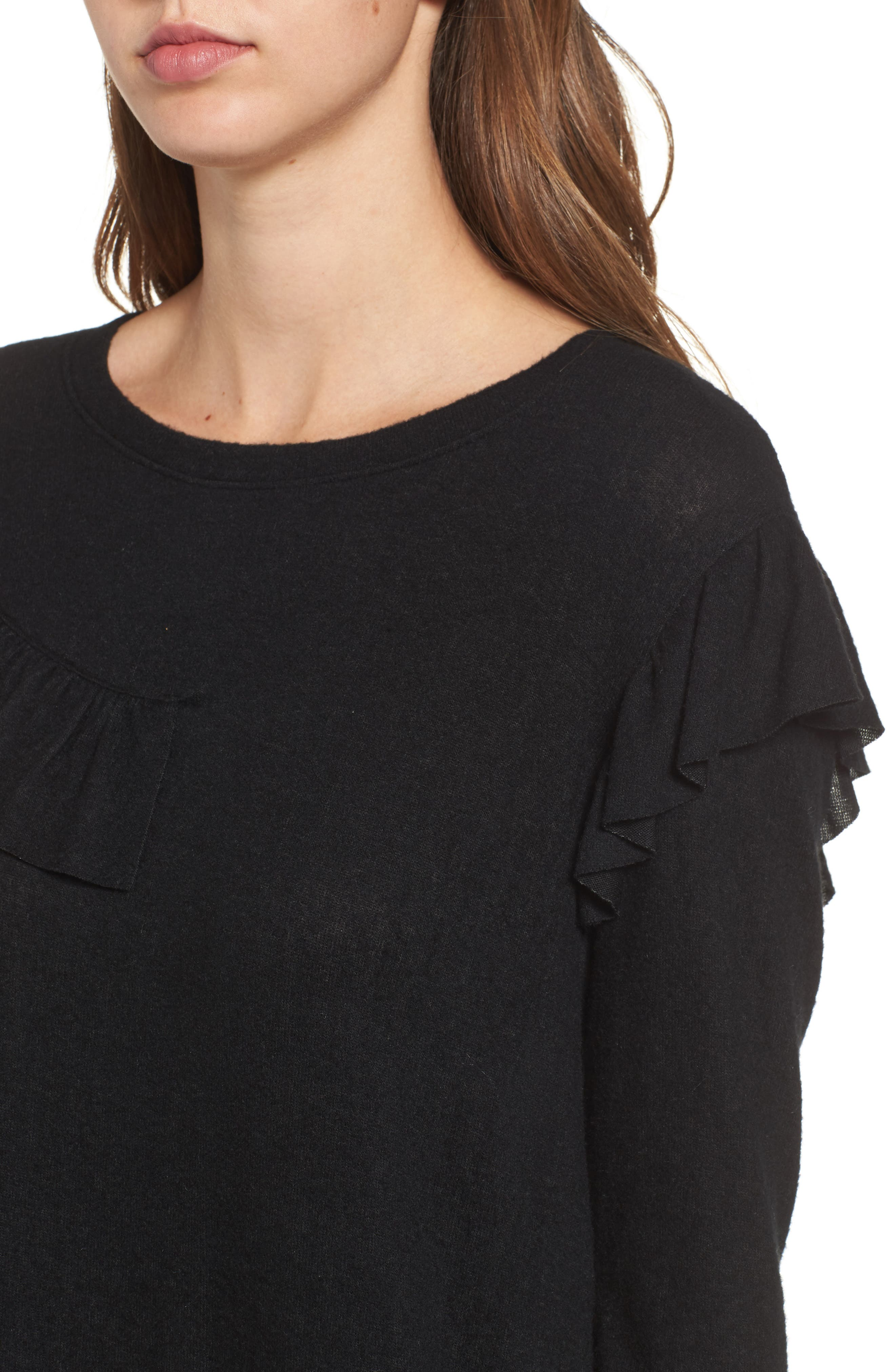 Ruffle Knit Top,                             Alternate thumbnail 7, color,