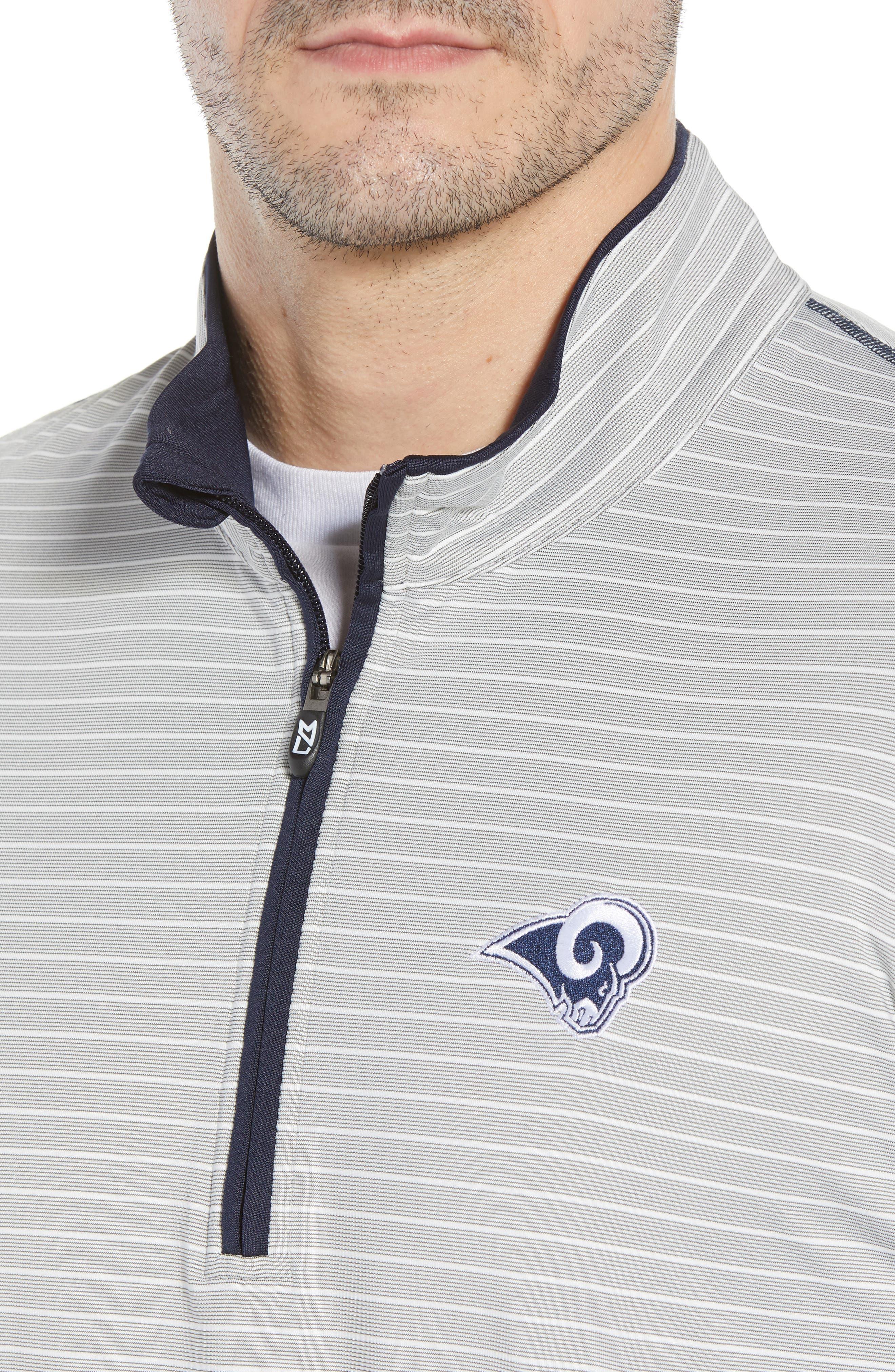 Los Angeles Rams - Meridian Half Zip Pullover,                             Alternate thumbnail 4, color,                             NAVY