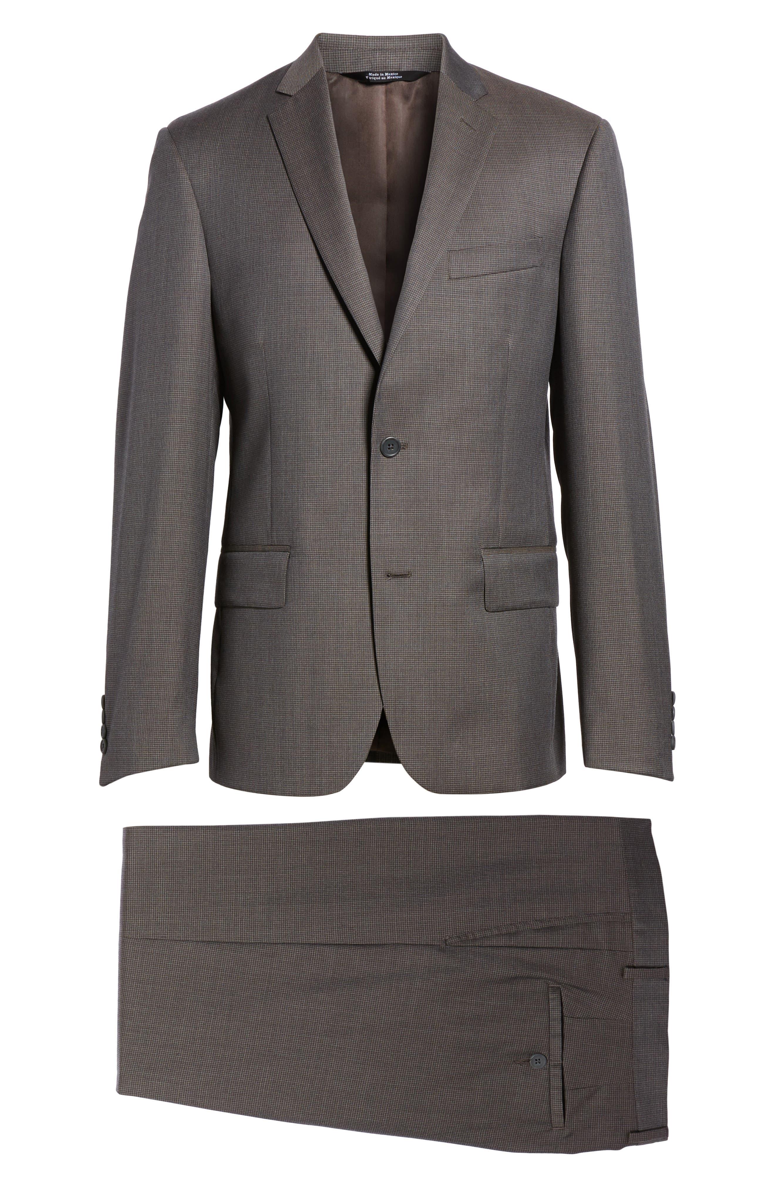 Classic Fit Check Wool Suit,                             Alternate thumbnail 30, color,
