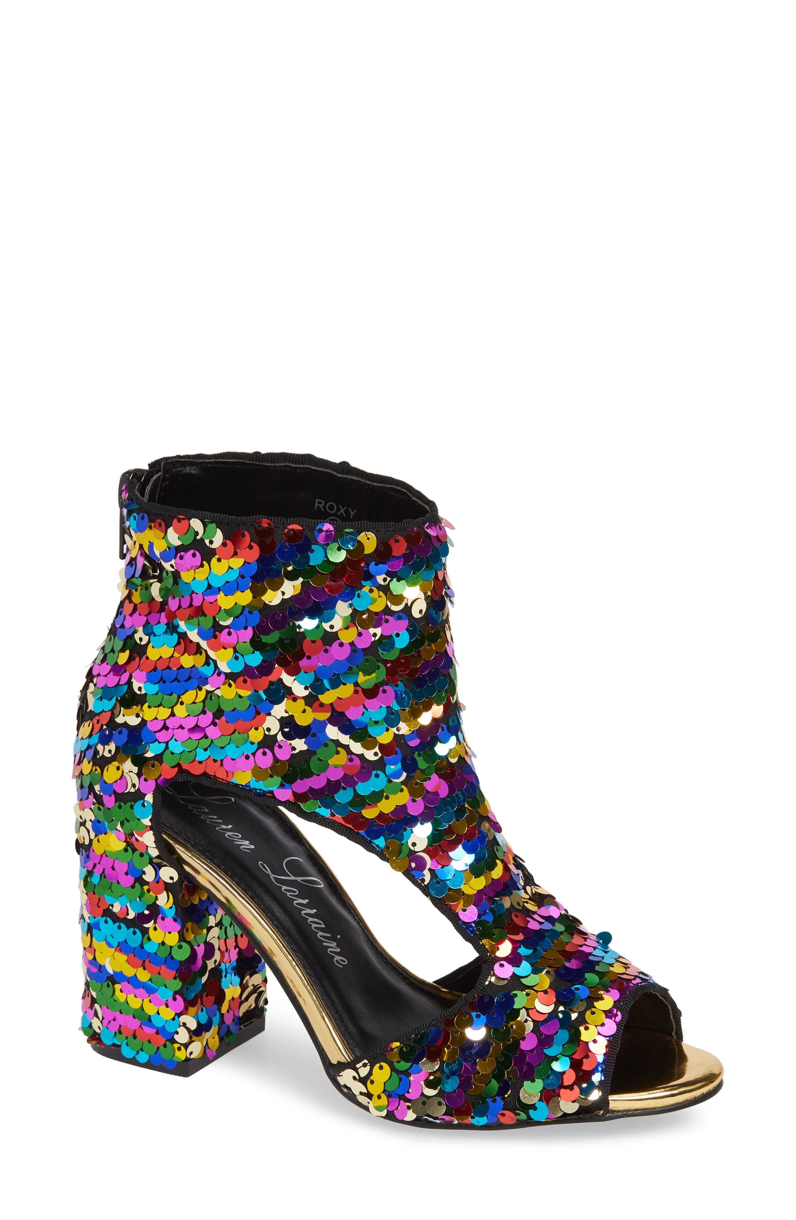 Lauren Lorraine Roxy Sequin Sandal- Metallic