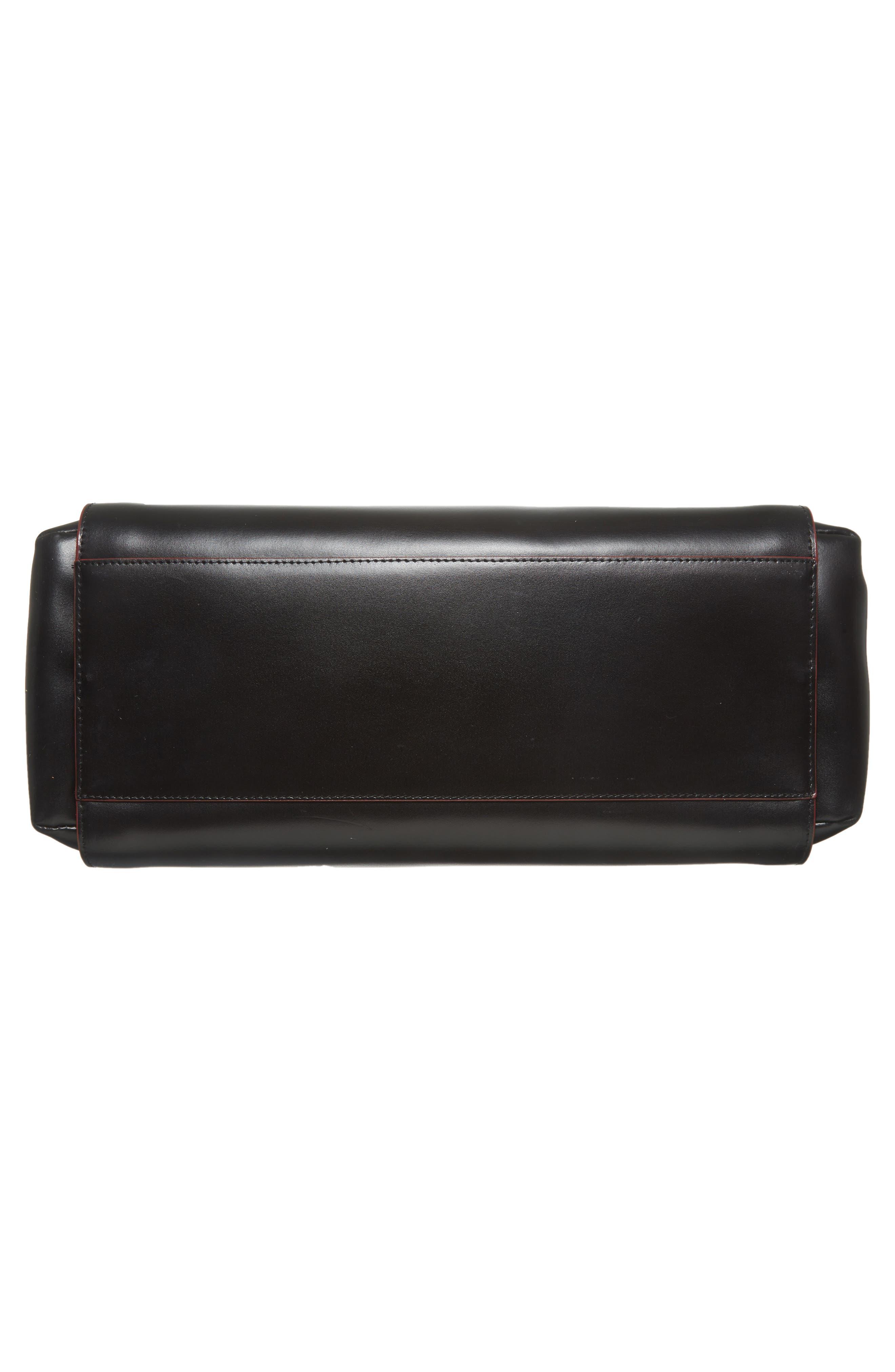 Audrey Under Lock & Key - Zola RFID Leather Tote,                             Alternate thumbnail 6, color,                             BLACK