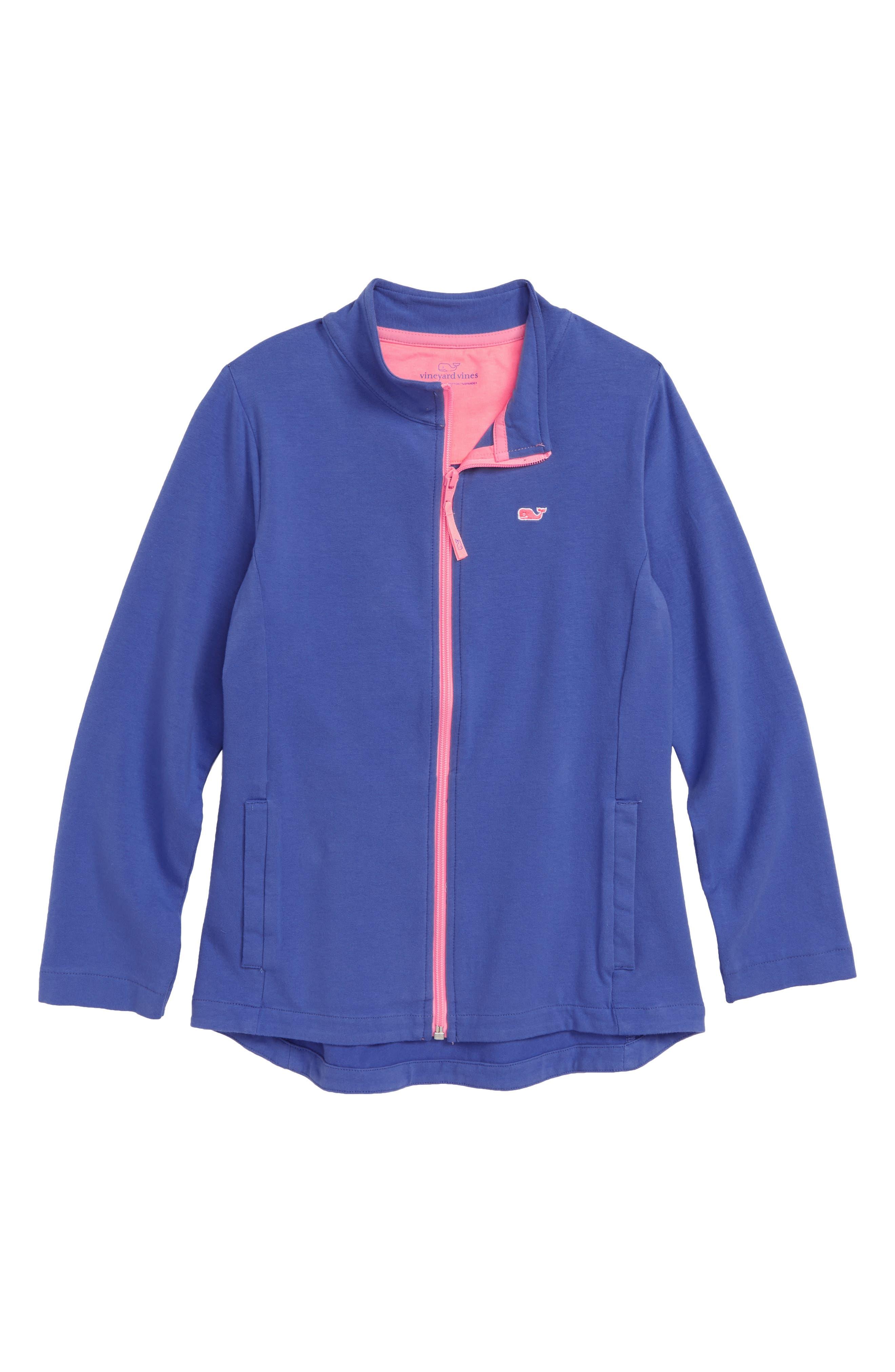 Full Zip Jacket,                         Main,                         color, MARLIN
