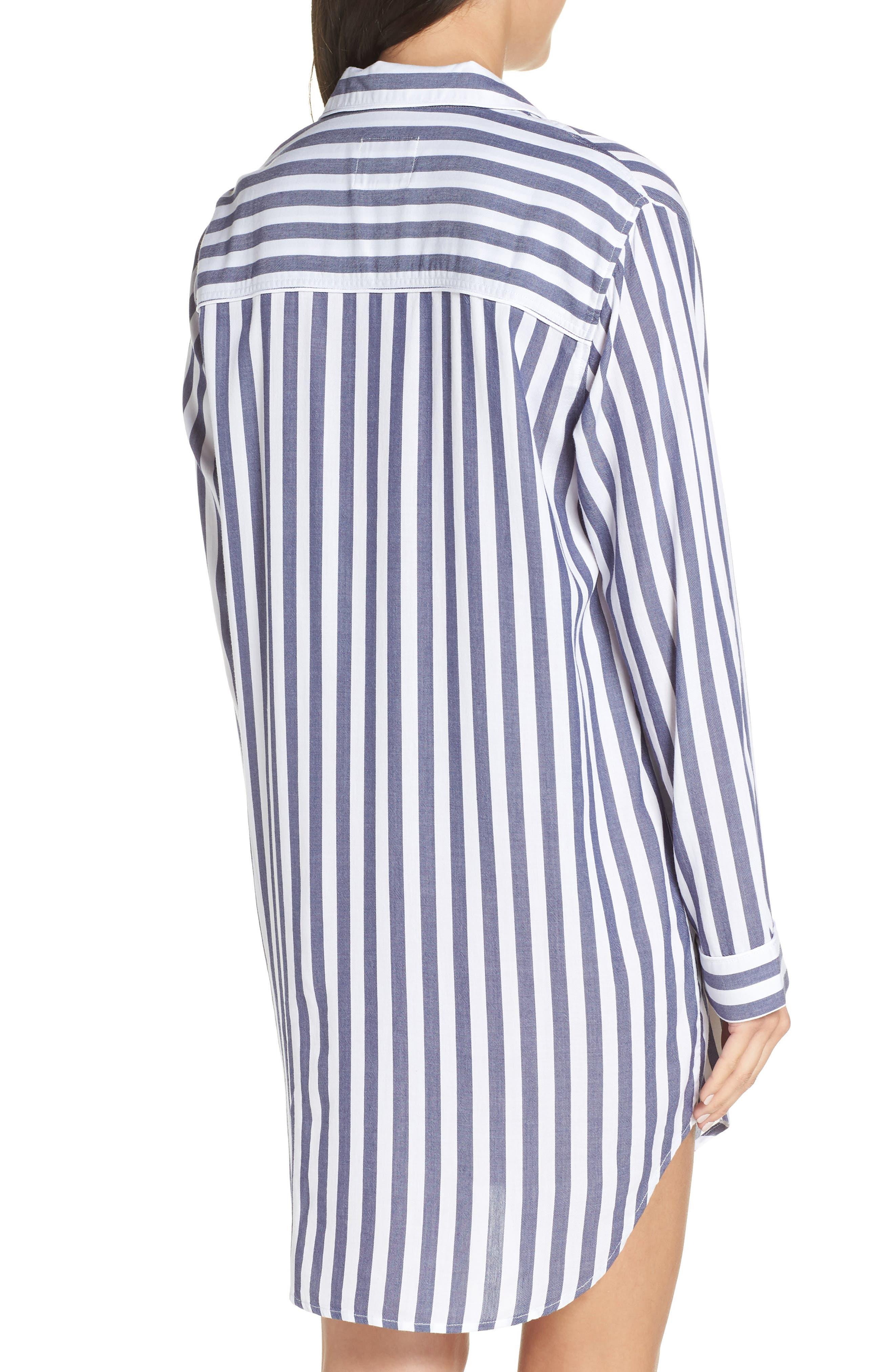 RAILS,                             Striped Sleep Shirt,                             Alternate thumbnail 2, color,                             434