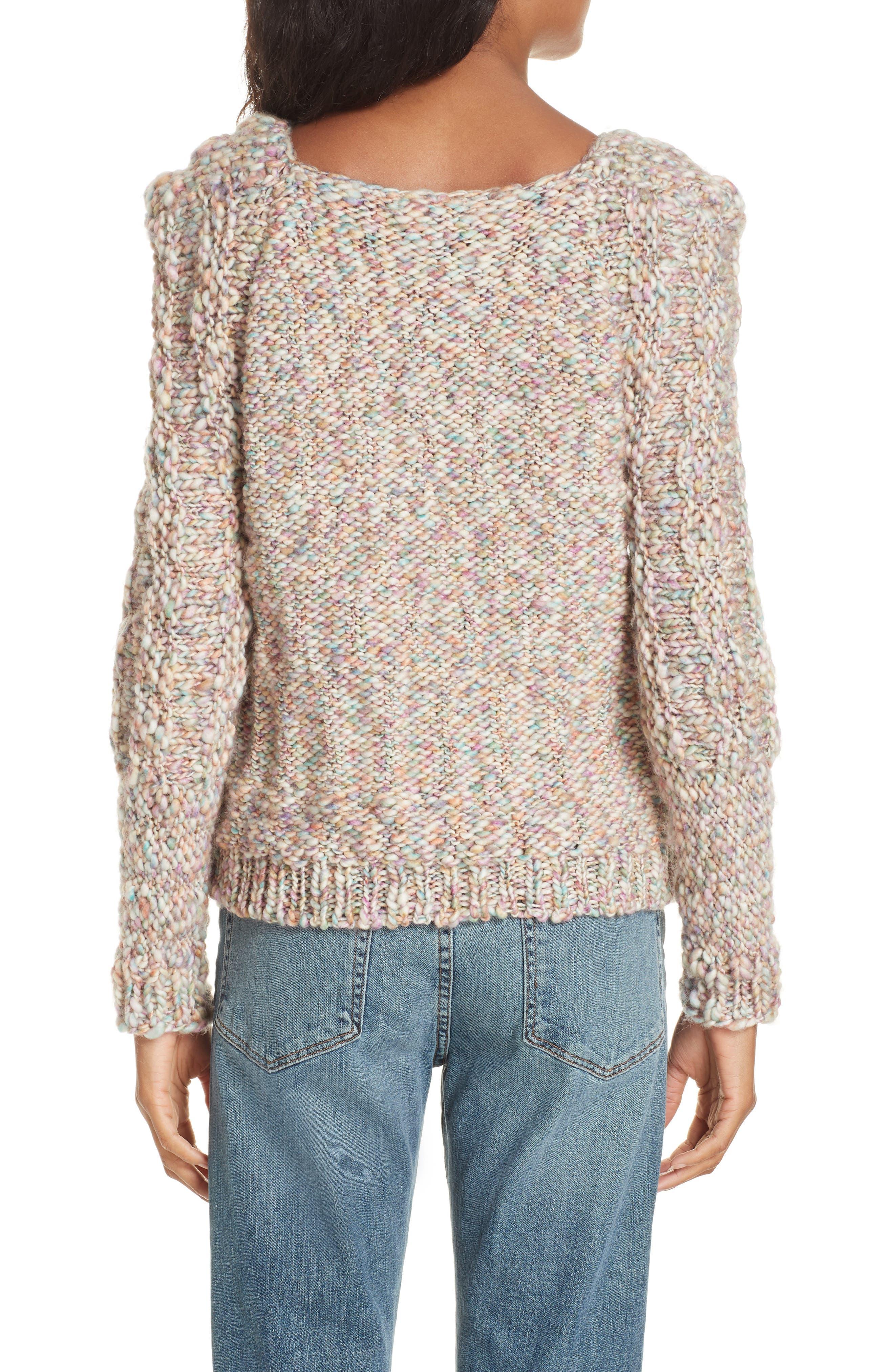 Joplin Wool Sweater,                             Alternate thumbnail 2, color,                             PASTEL MULTI