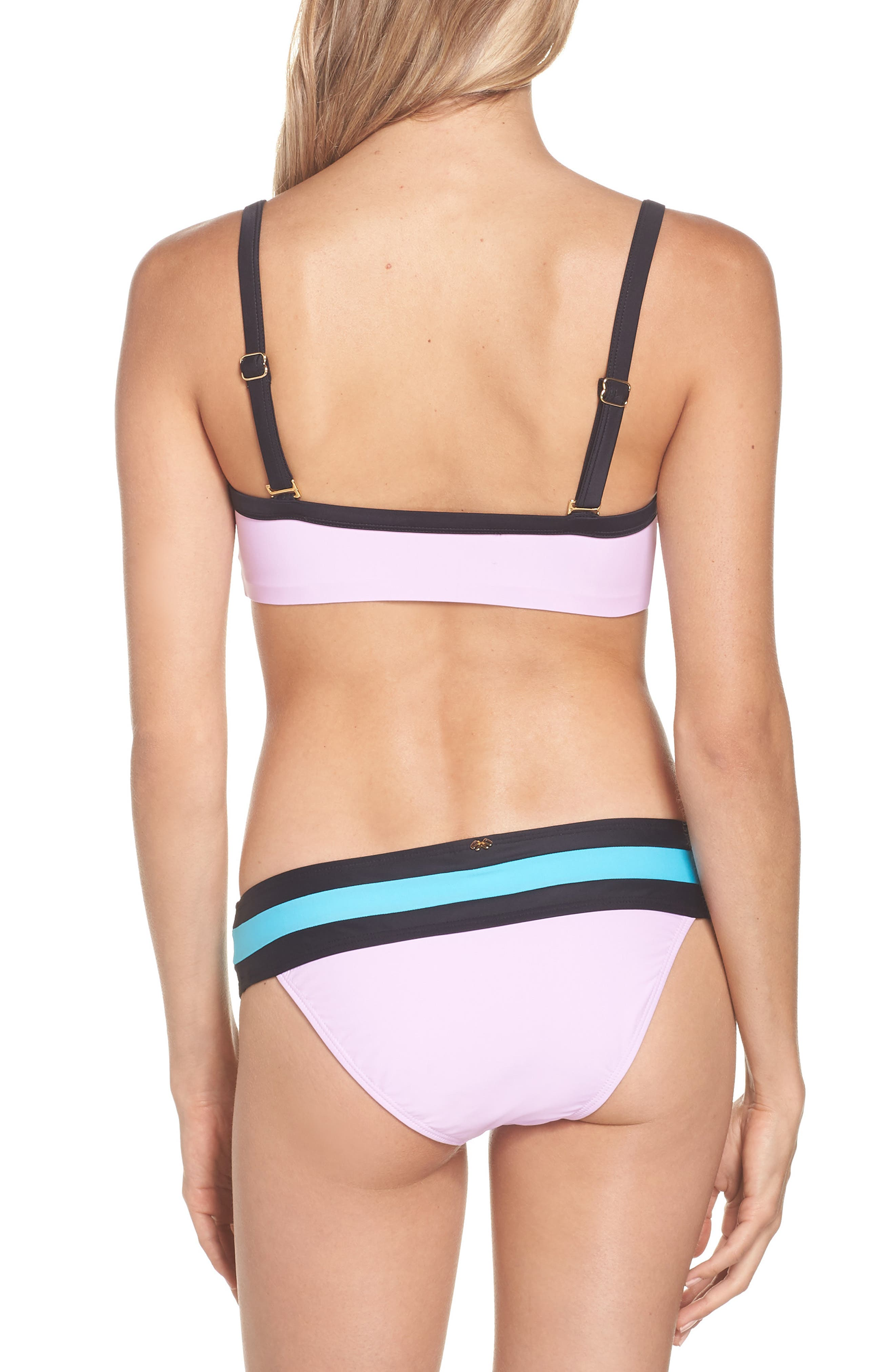 Color Block Bikini Top,                             Alternate thumbnail 8, color,                             LILAC