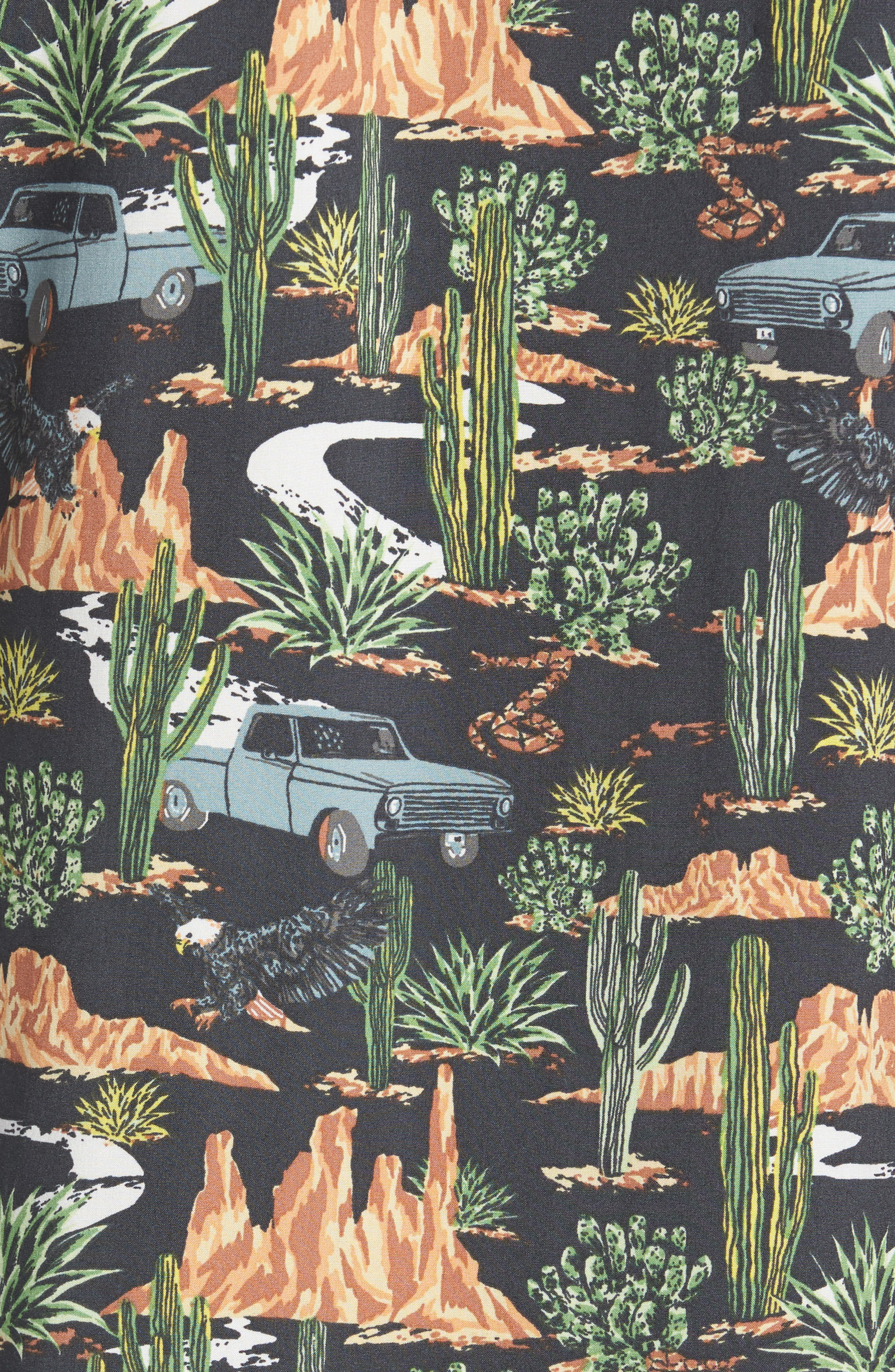 Print Camp Shirt,                             Alternate thumbnail 5, color,                             GREY ON THE ROAD PRINT