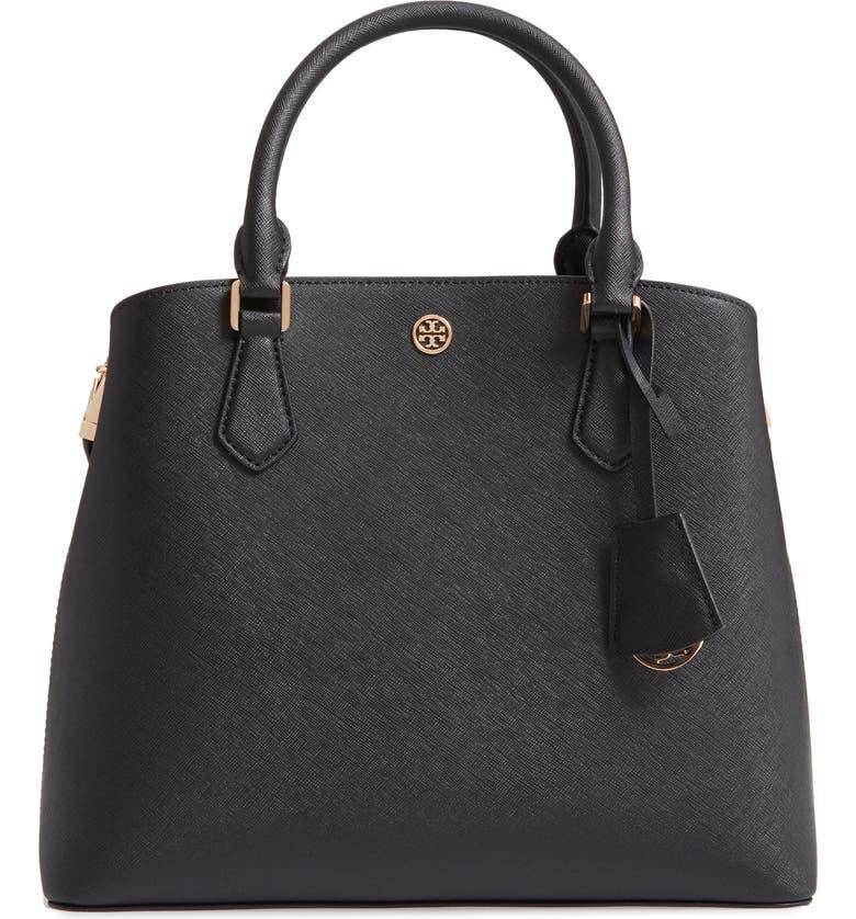 56ec012e9d35 Tory Burch Medium Robinson Leather Triple Compartment Bag