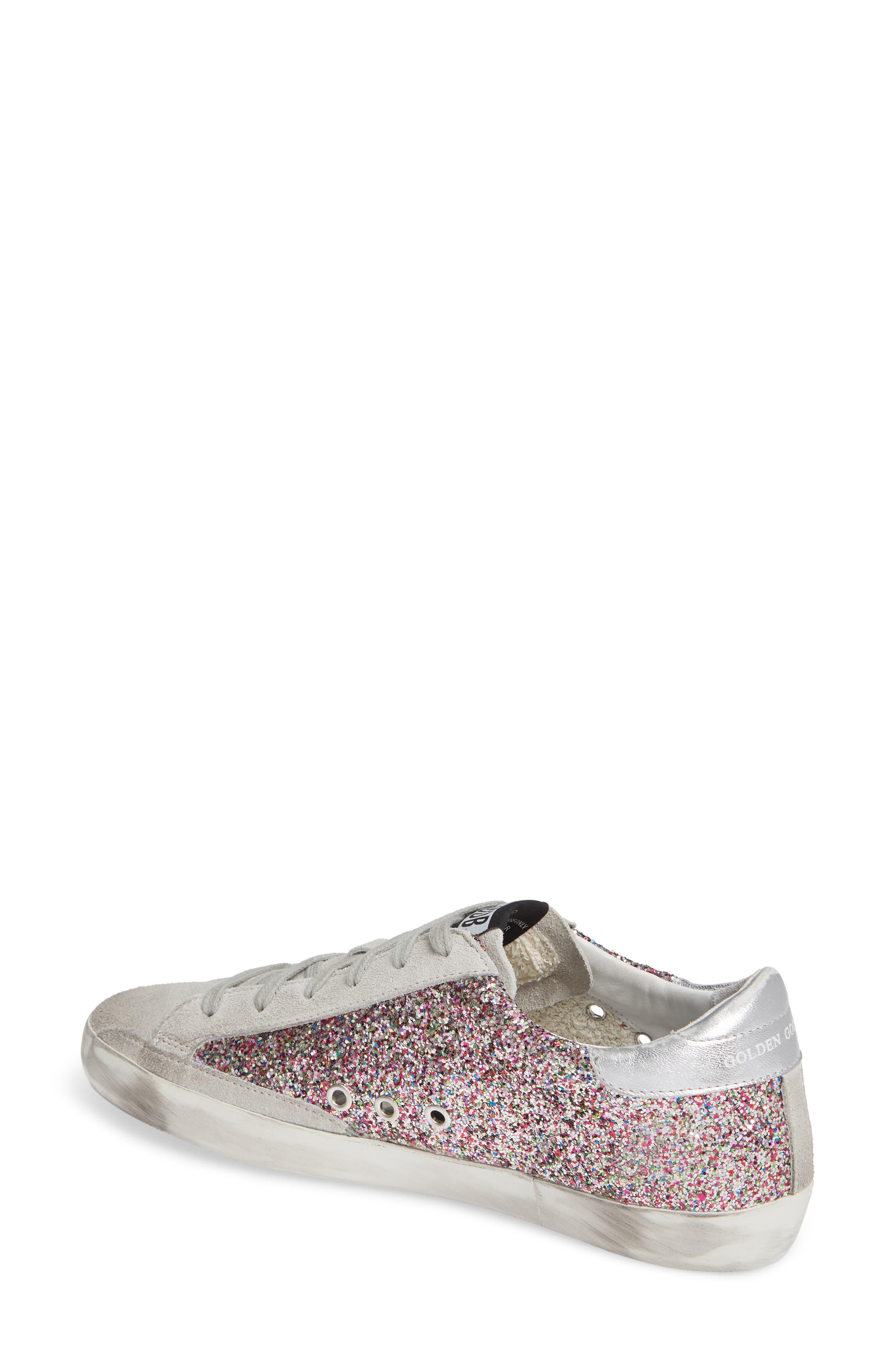 Superstar Glitter Sneaker,                             Alternate thumbnail 2, color,                             PINK MULTI/ GREY