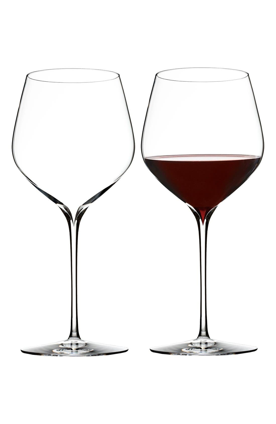 'Elegance' Fine Crystal Cabernet Sauvignon Glasses,                             Alternate thumbnail 4, color,                             100