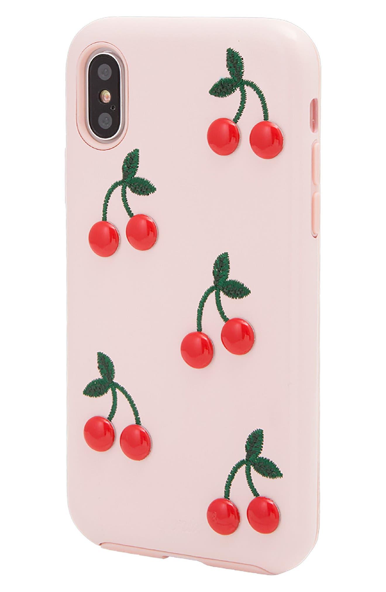 Cherry iPhone 7/8 Plus Case,                             Alternate thumbnail 2, color,                             650