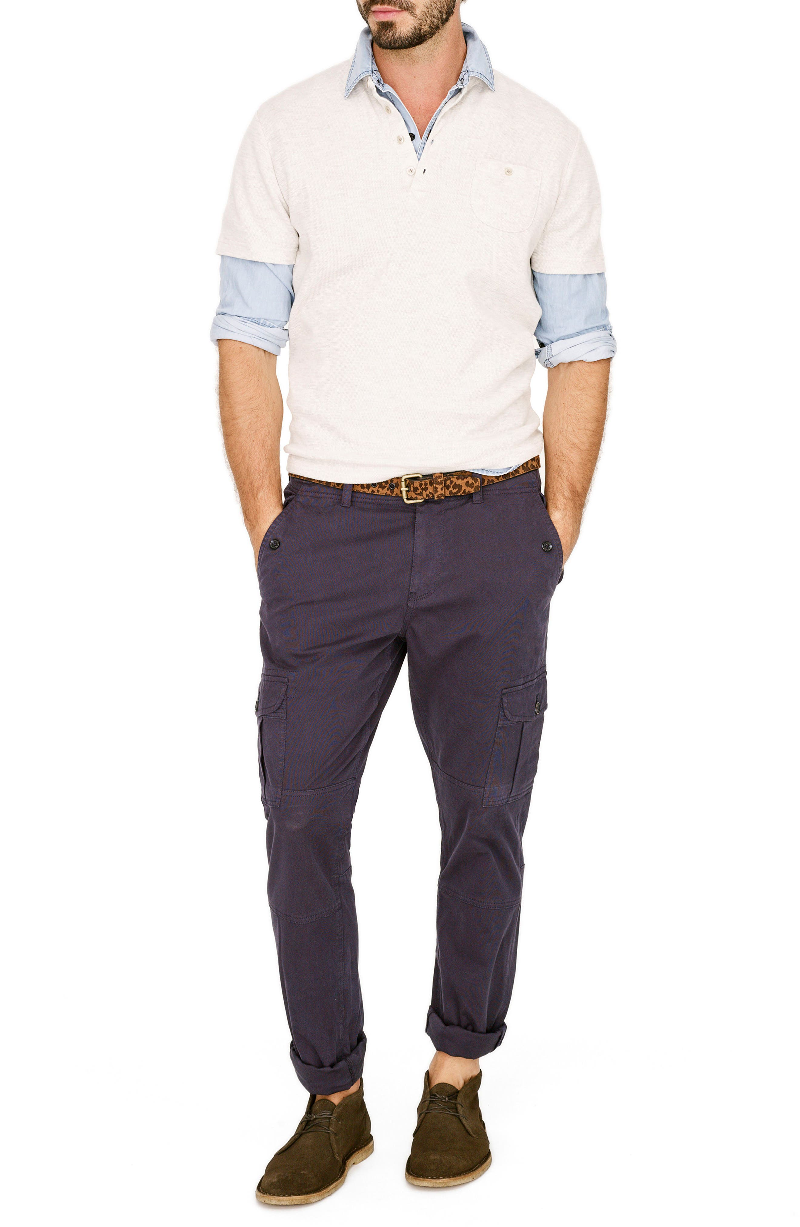 Stretch Twill Cargo Pants,                             Alternate thumbnail 21, color,