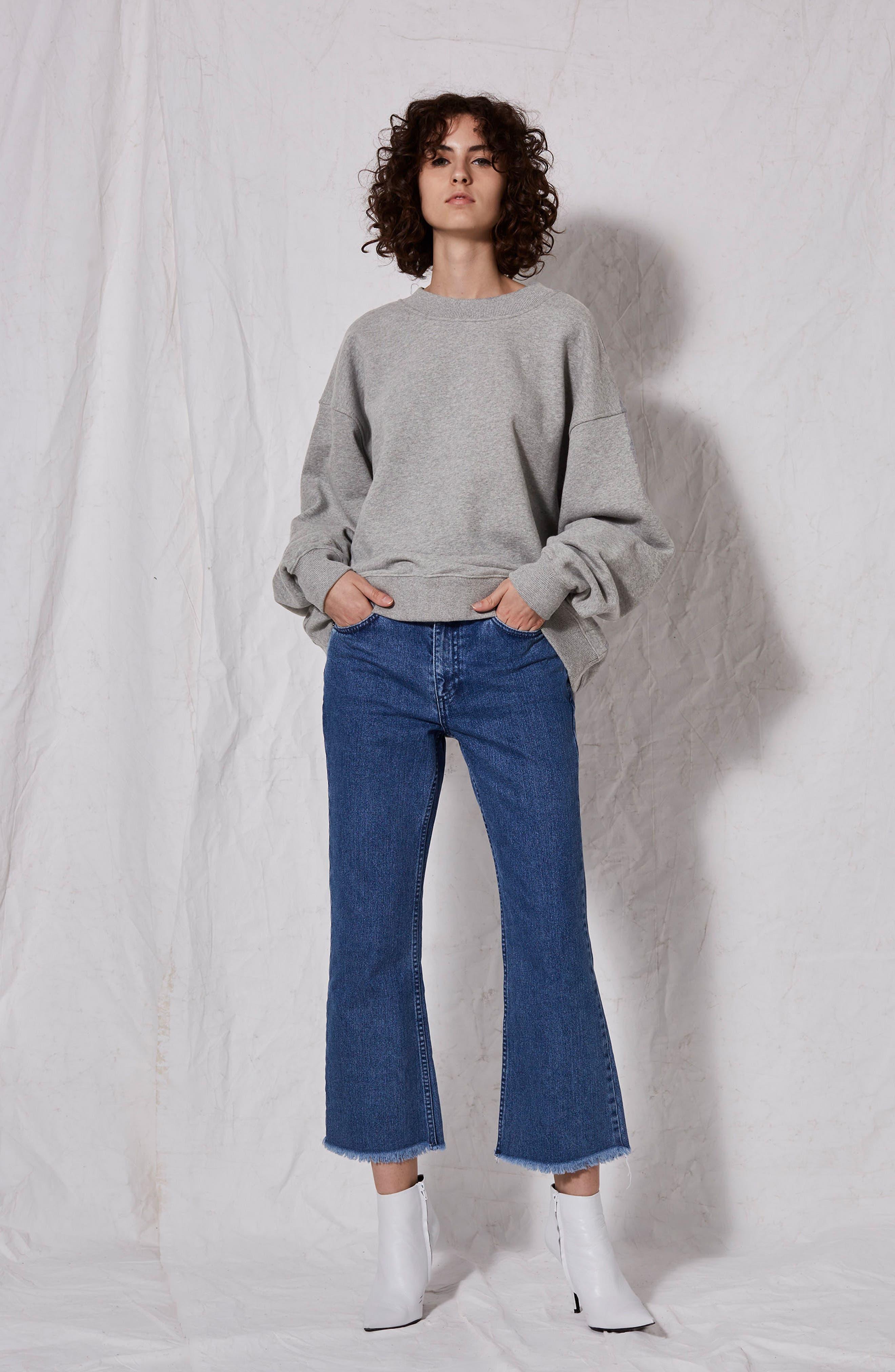 Oversize Sweatshirt,                             Alternate thumbnail 4, color,                             020