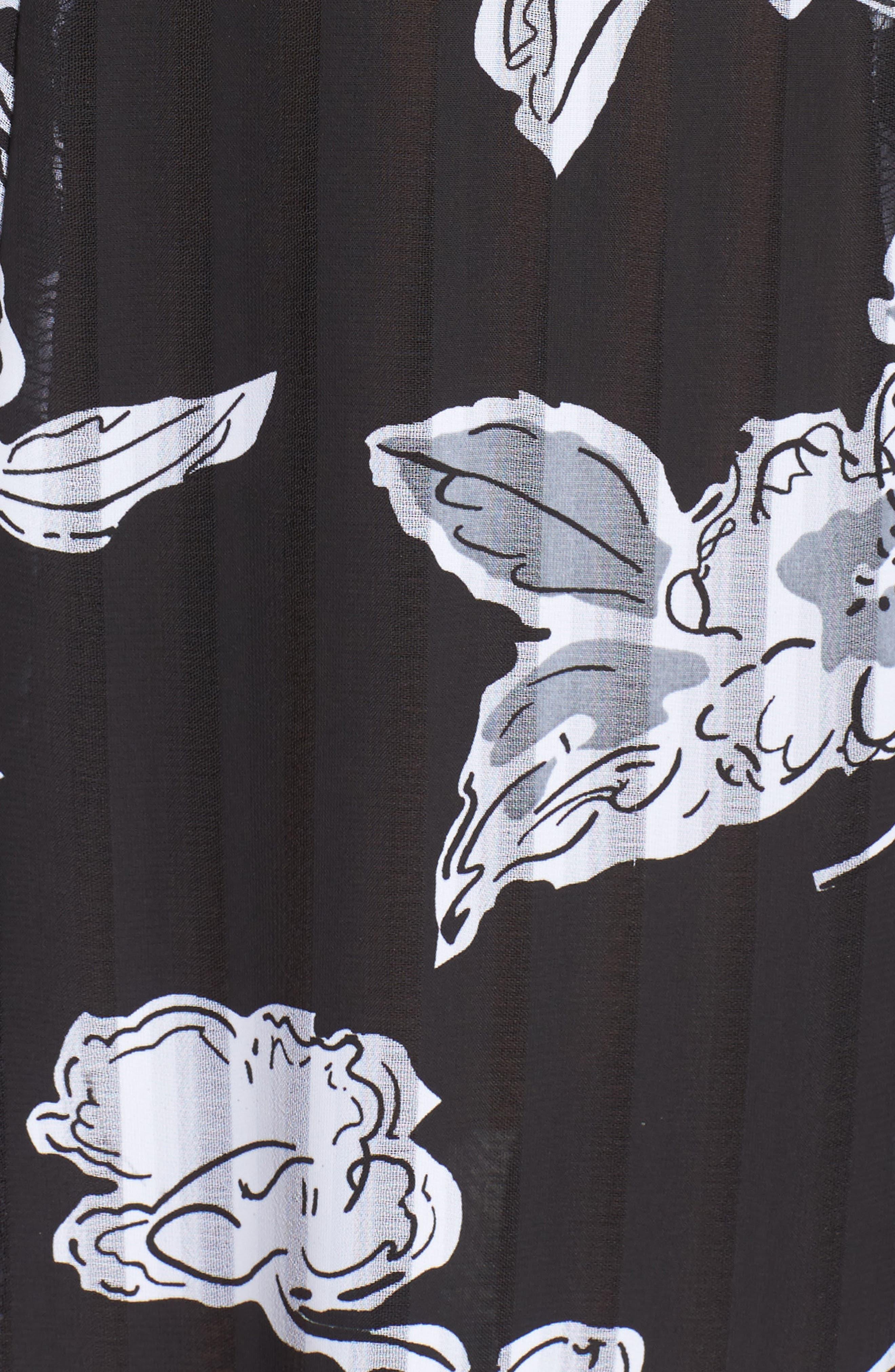 Print Cold Shoulder Dress,                             Alternate thumbnail 6, color,                             011