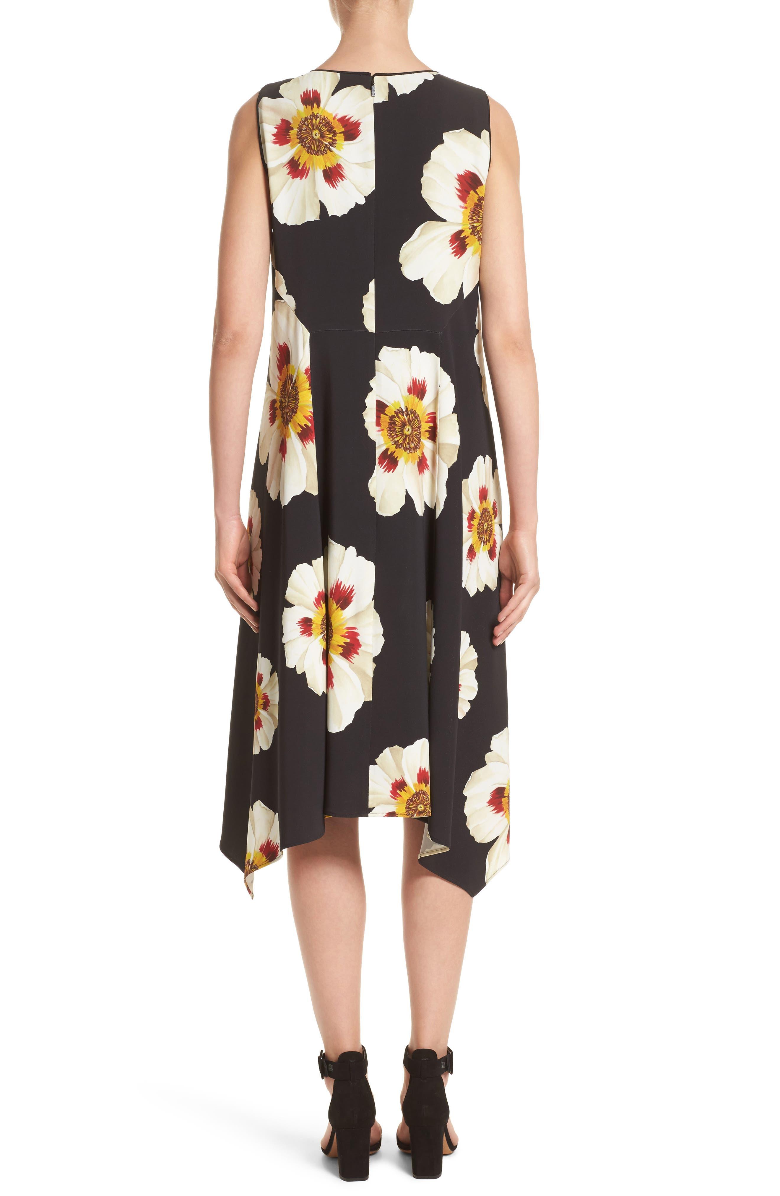 Romona Floral Fluid Cloth Dress,                             Alternate thumbnail 2, color,                             001