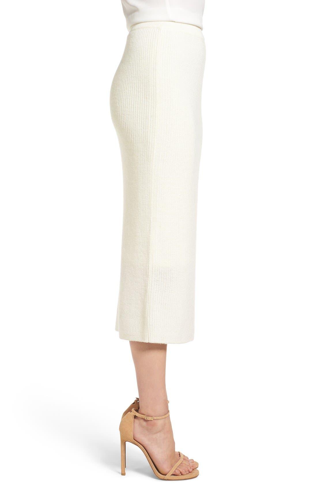 by Lauren Conrad 'Copenhagen' Knit Tube Skirt,                             Alternate thumbnail 3, color,                             100