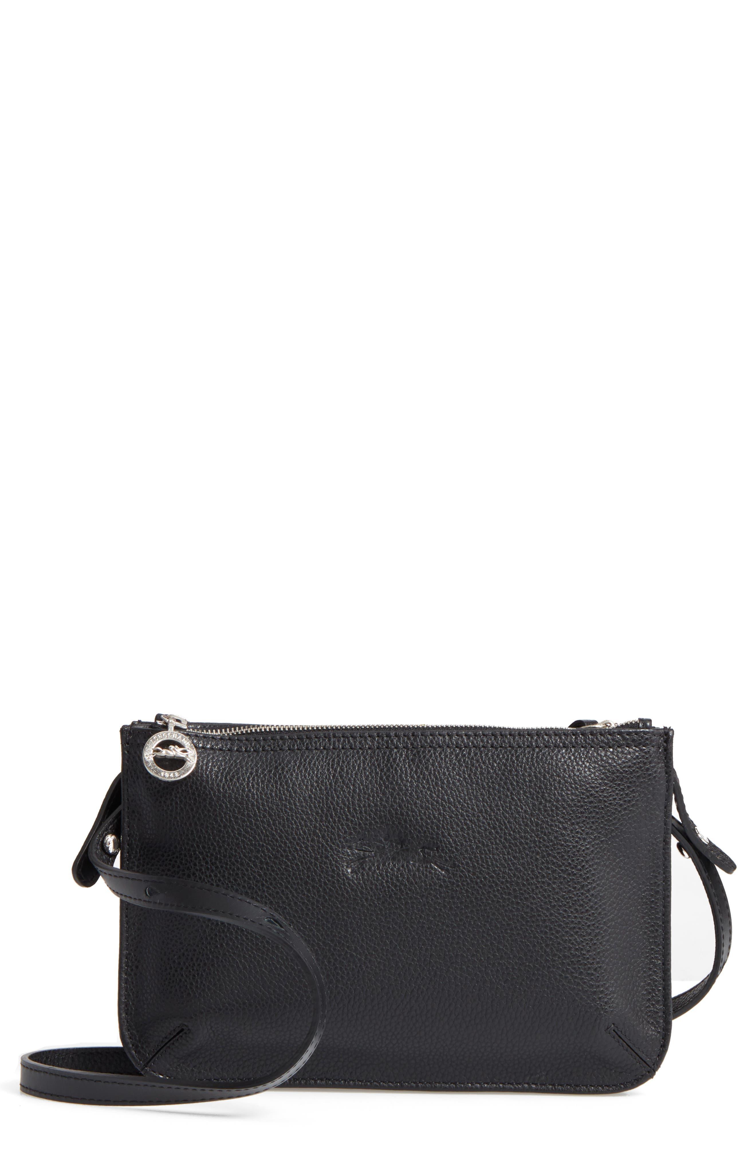 Le Foulonne Leather Crossbody Bag,                             Main thumbnail 1, color,                             002
