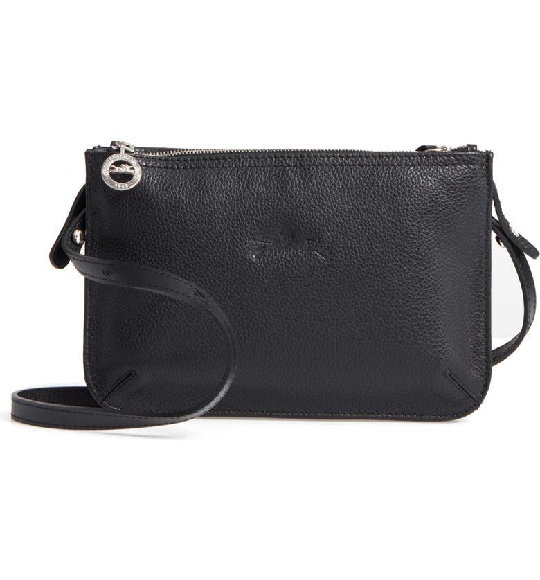 6601e4e4fac2 Longchamp Le Foulonne Leather Crossbody Bag