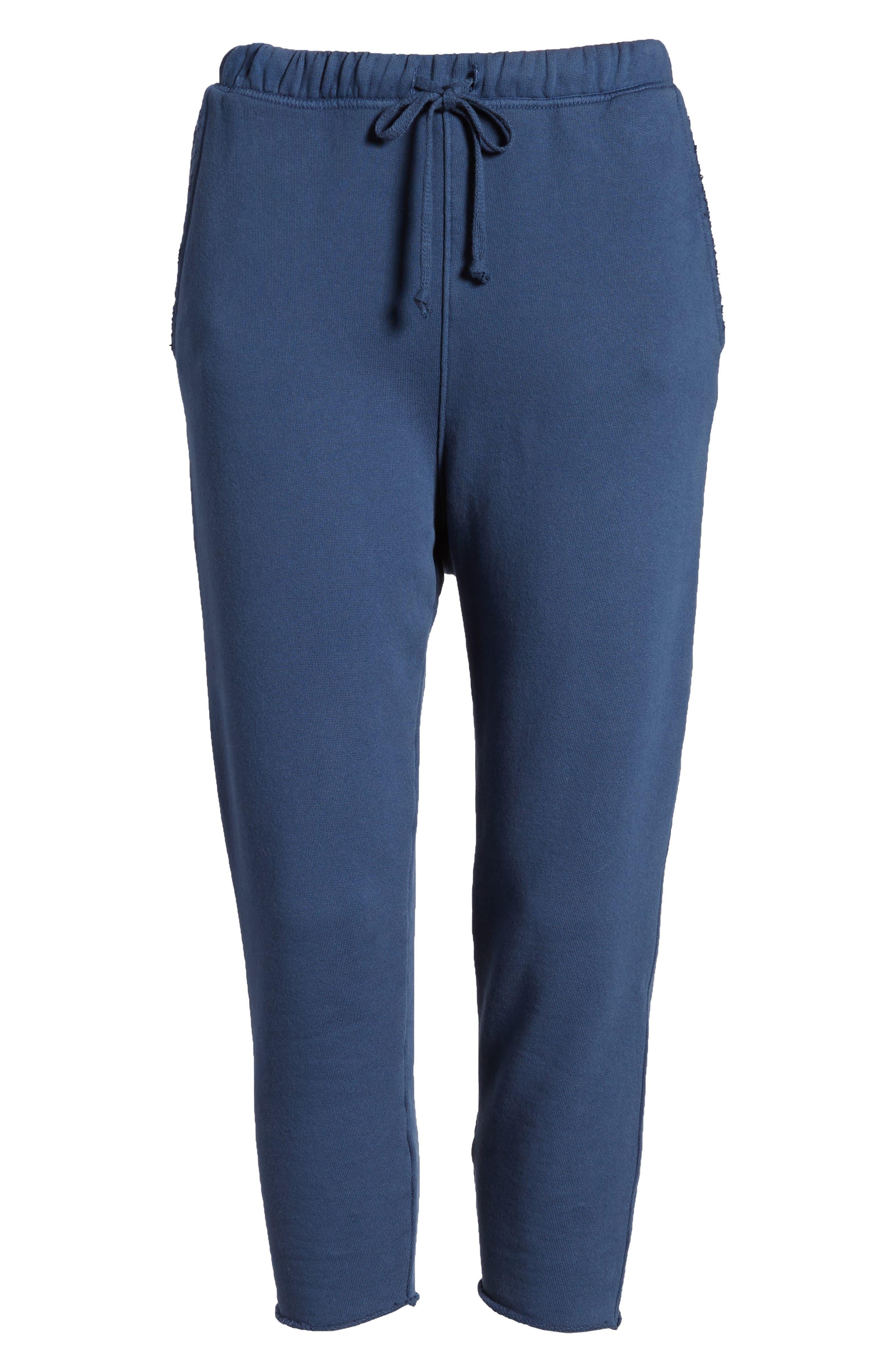 Raw Hem Crop Sweatpants,                             Alternate thumbnail 7, color,                             410