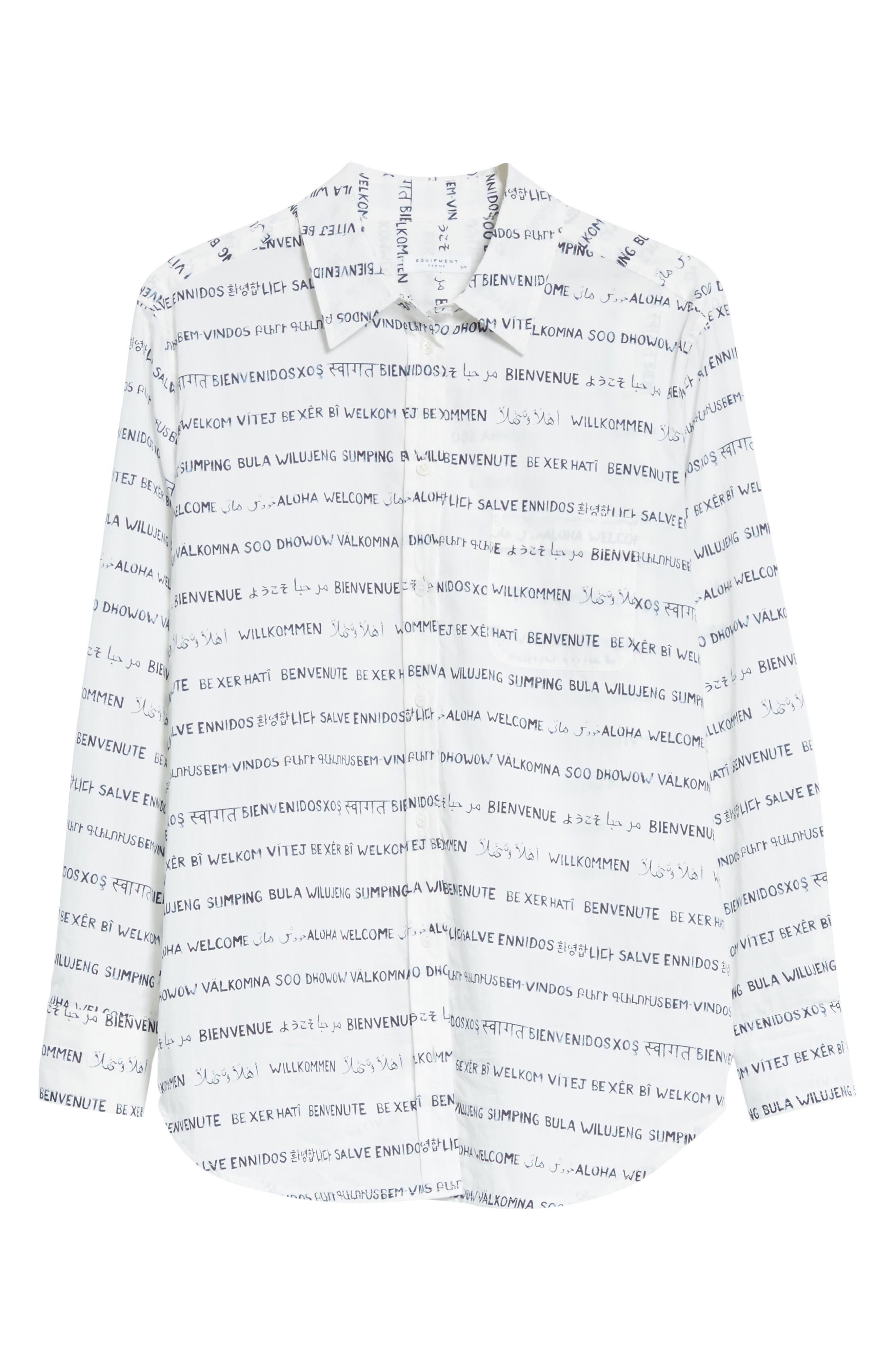 Kenton Graphic Stripe Cotton Shirt,                             Alternate thumbnail 6, color,                             125