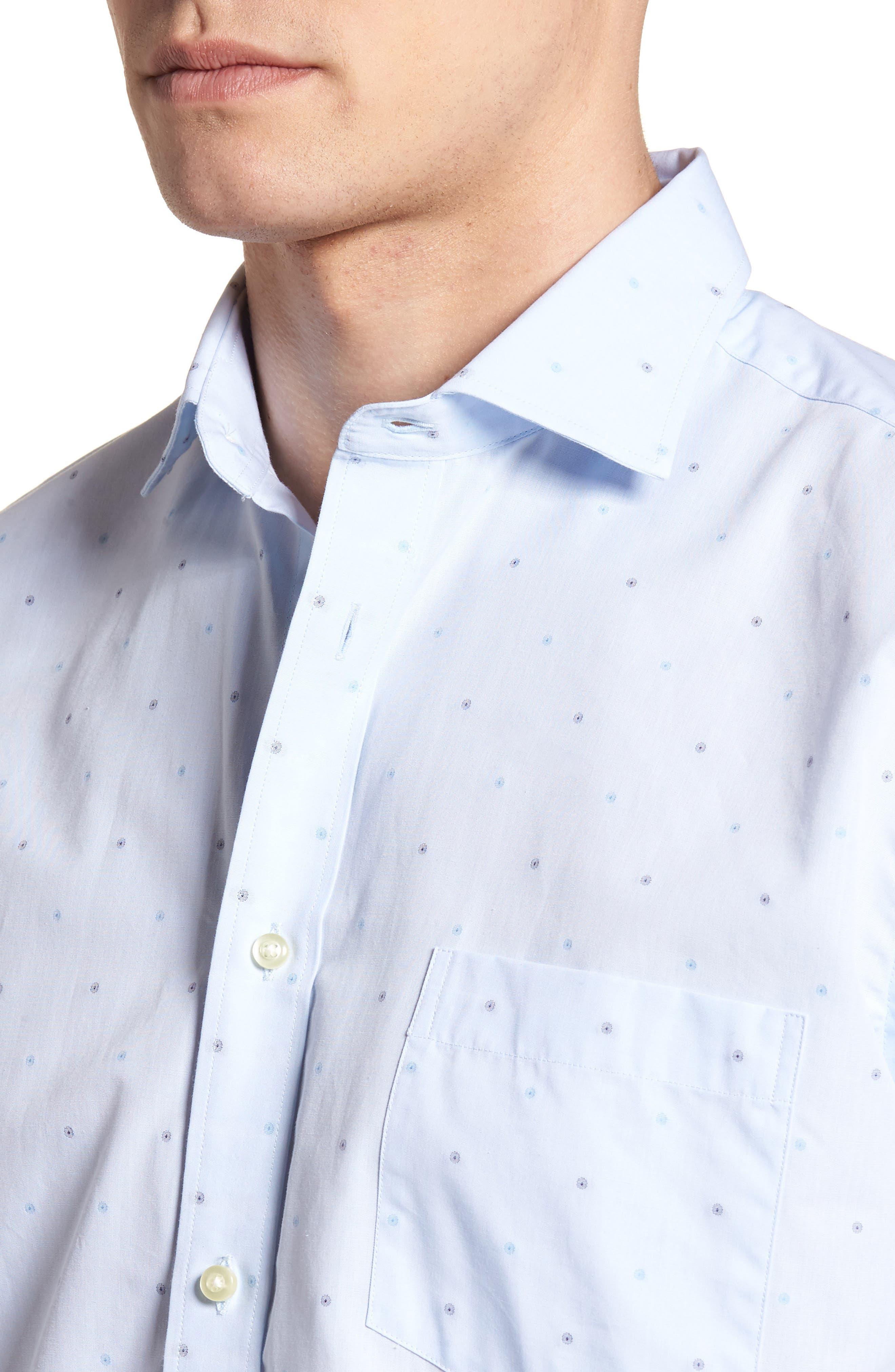 Regular Fit Dot Sport Shirt,                             Alternate thumbnail 4, color,