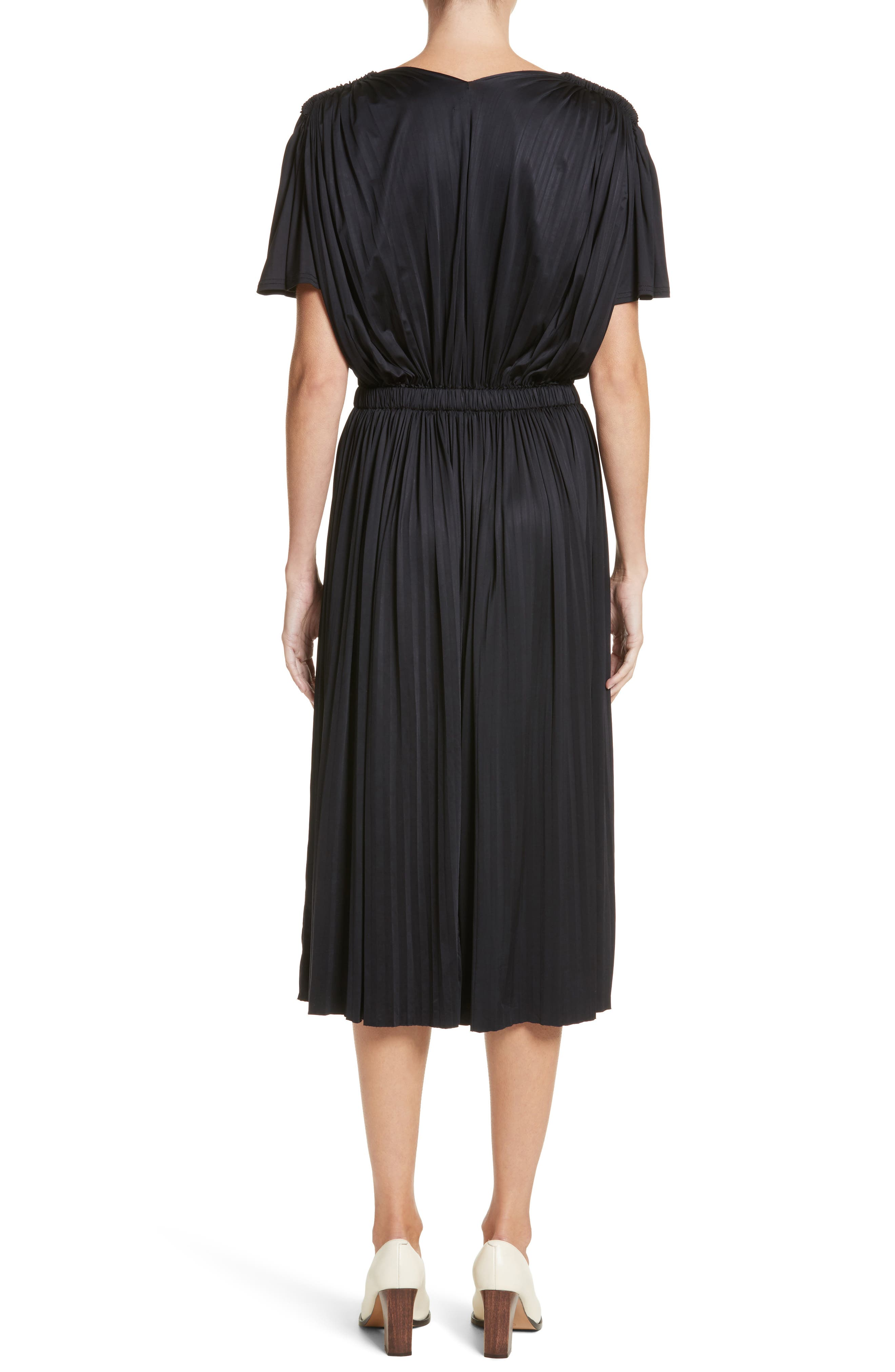Fluid Jersey Dress,                             Alternate thumbnail 2, color,                             BLACK