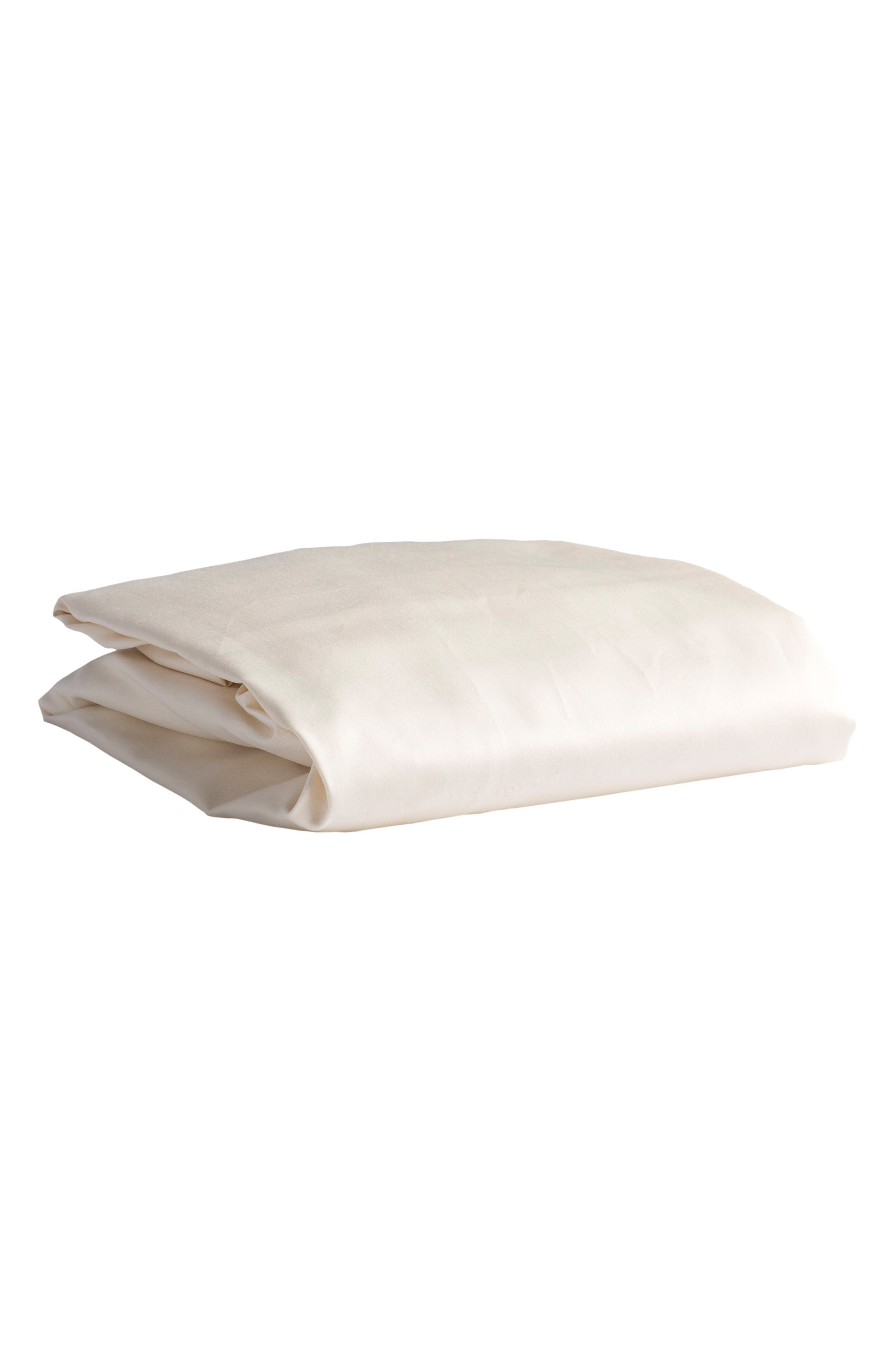x Rosie Pope Pure & Secure Organic Cotton Fitted Crib Sheet,                             Main thumbnail 1, color,                             NATURAL