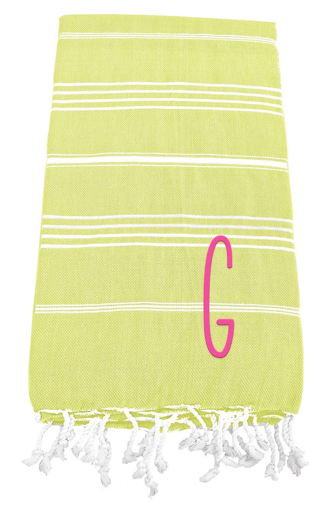 Monogram Turkish Cotton Towel,                             Main thumbnail 36, color,