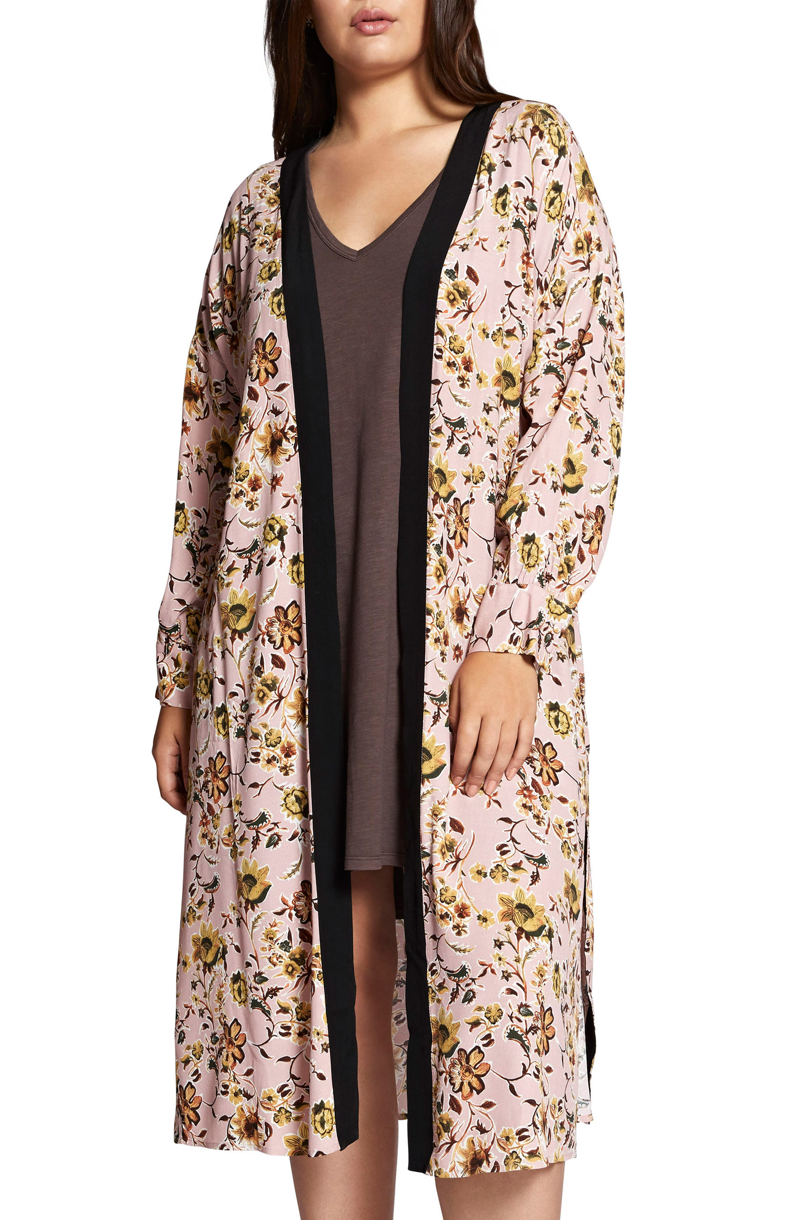 Calico Kimono,                             Main thumbnail 1, color,                             650