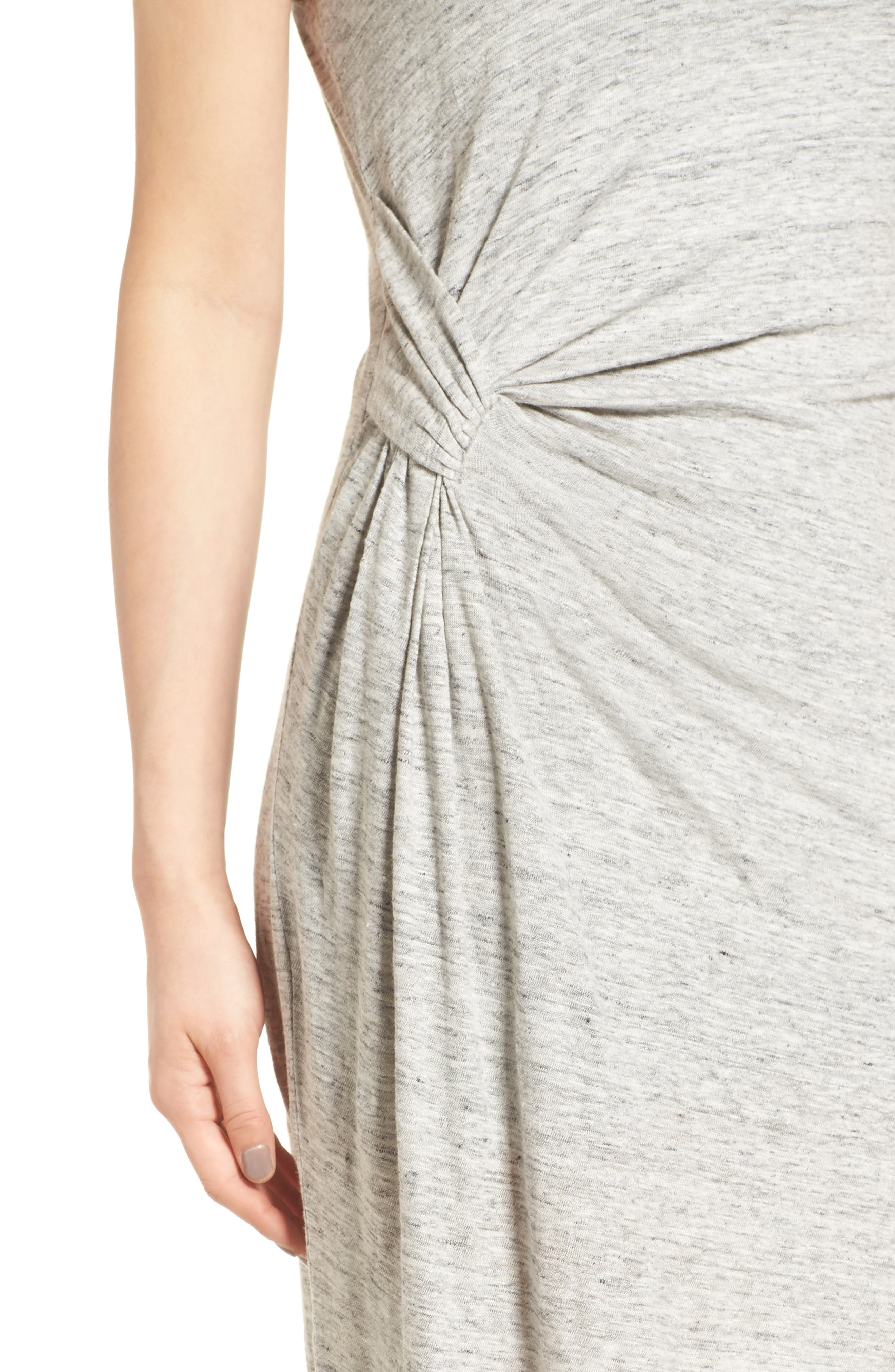 Asymmetrical Ruched Dress,                             Alternate thumbnail 4, color,                             051
