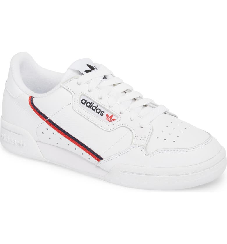 reputable site 9550a 8f758 Adidas Originals Continental 80 Leather Sneakers In White